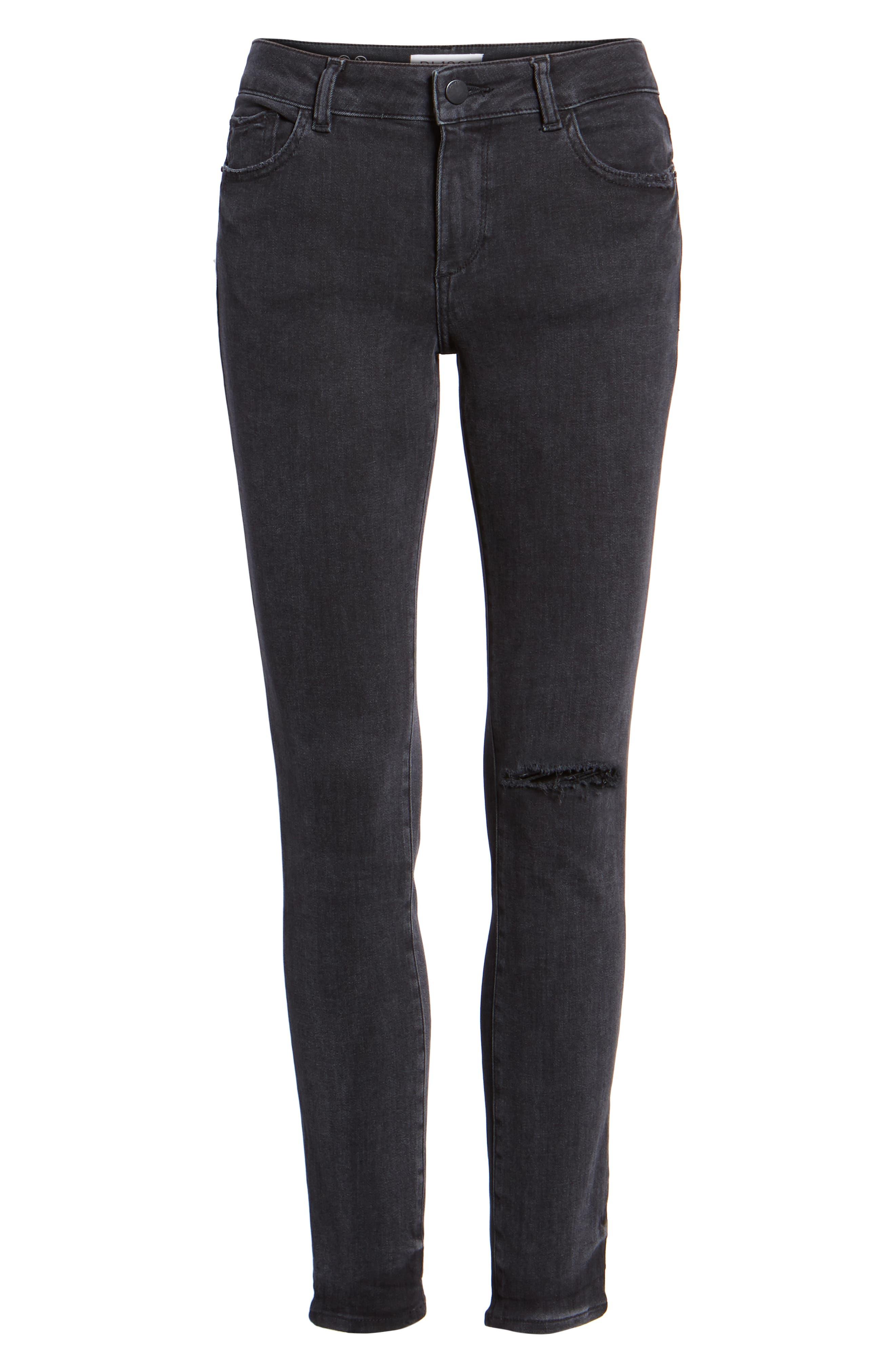 Margaux Instasculpt Ankle Skinny Jeans,                             Alternate thumbnail 7, color,                             HYDE