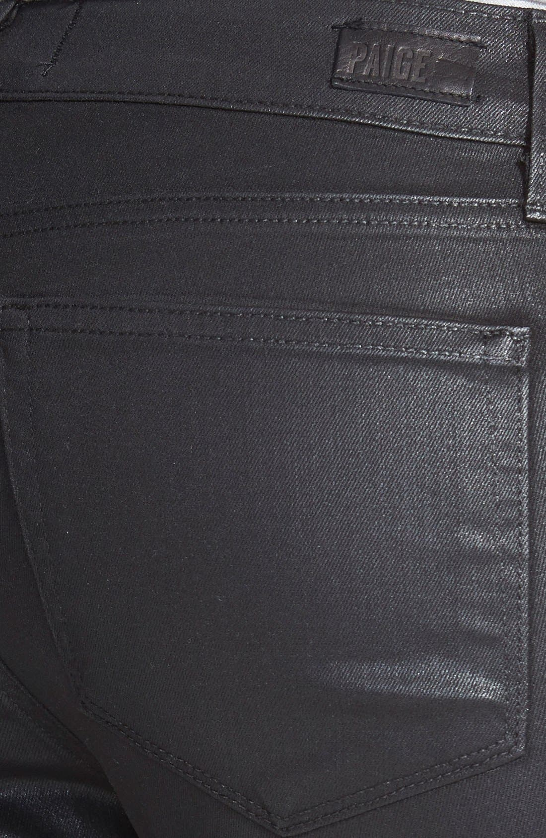 'Verdugo' Coated Ultra Skinny Ankle Jeans,                             Alternate thumbnail 3, color,                             001