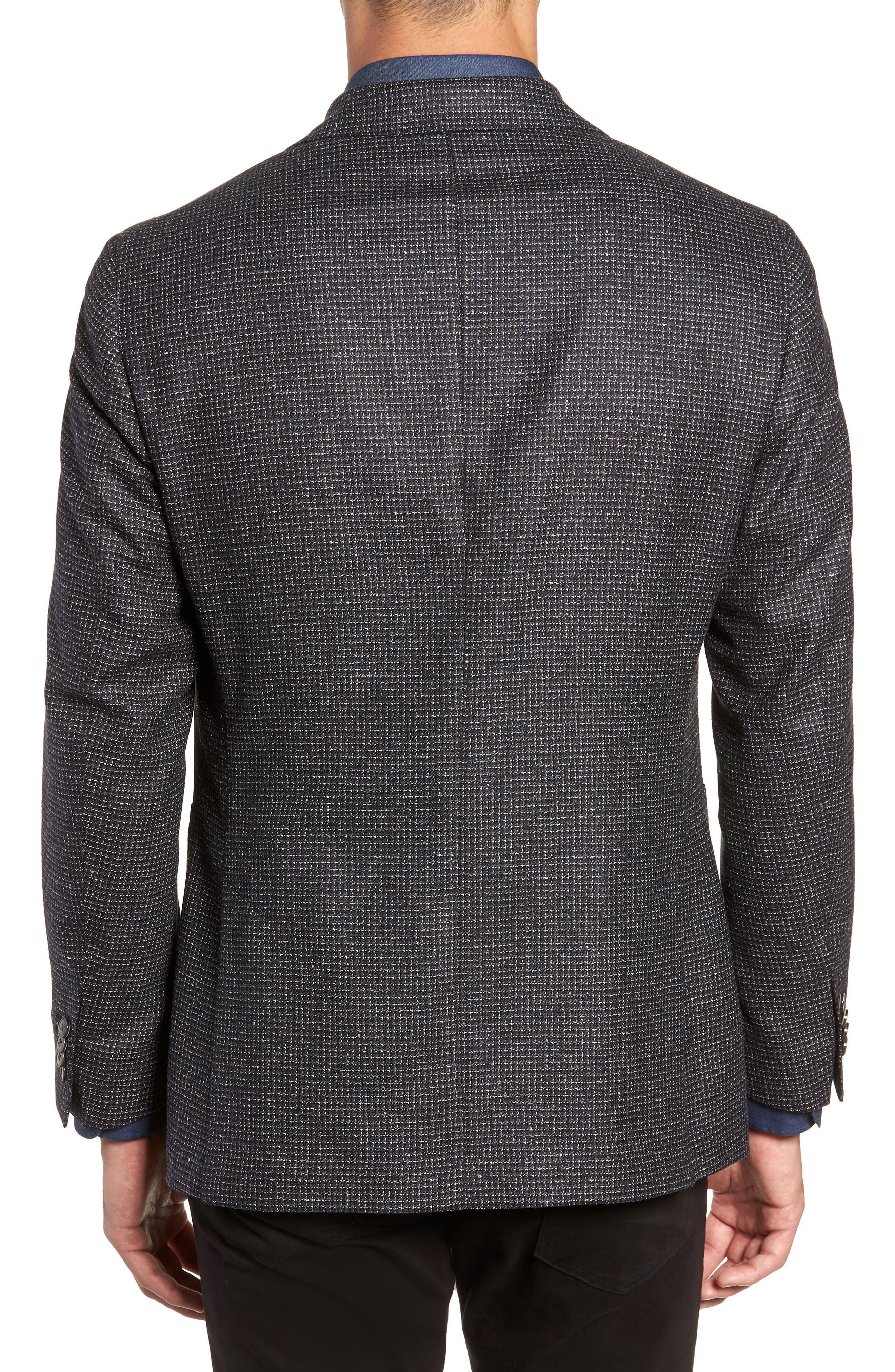 L.B.M 1911 Classic Fit Silk & Wool Sport Coat,                             Alternate thumbnail 2, color,                             BLACK