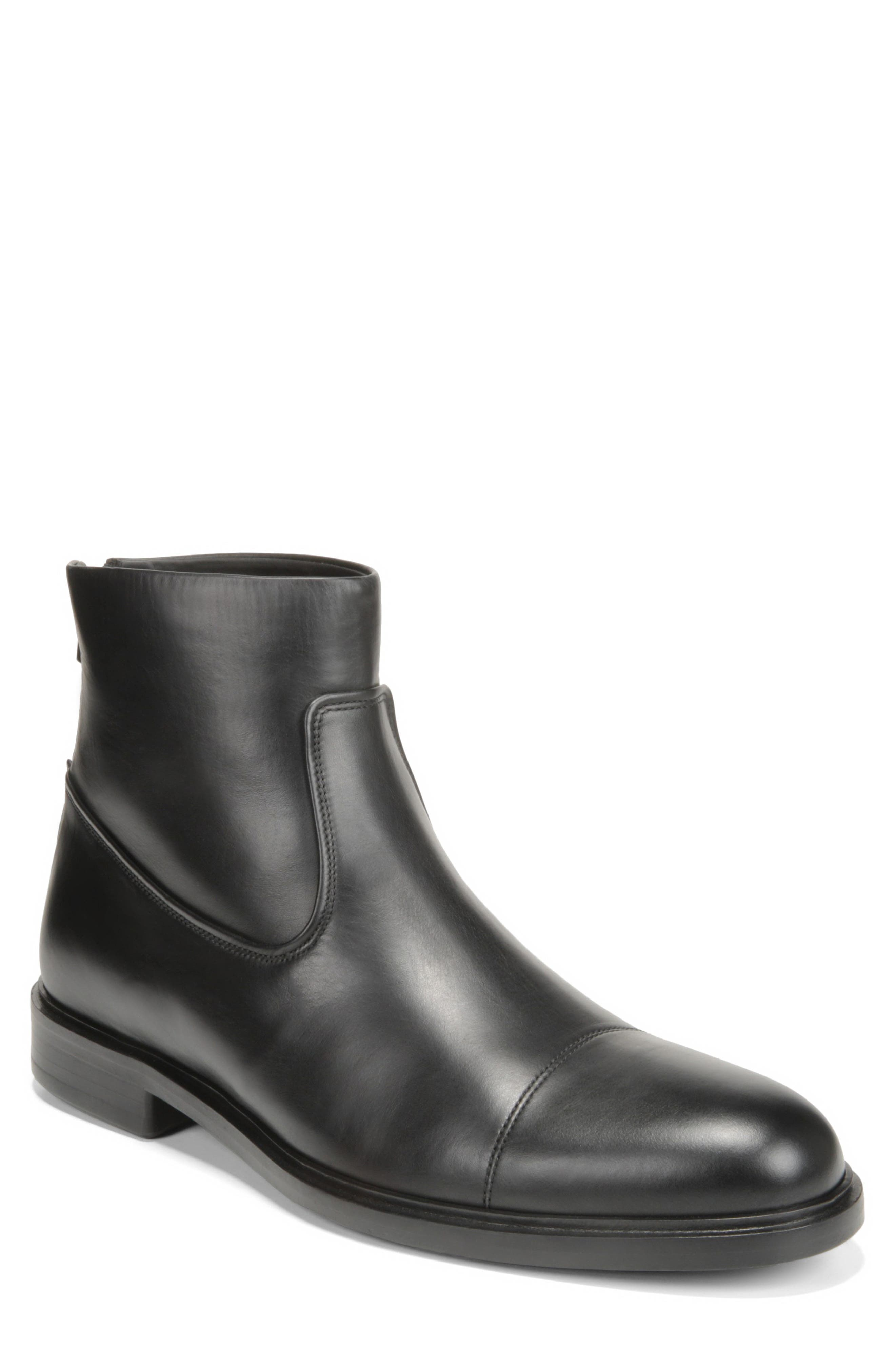 Vince Beckett Zip Boot, Black