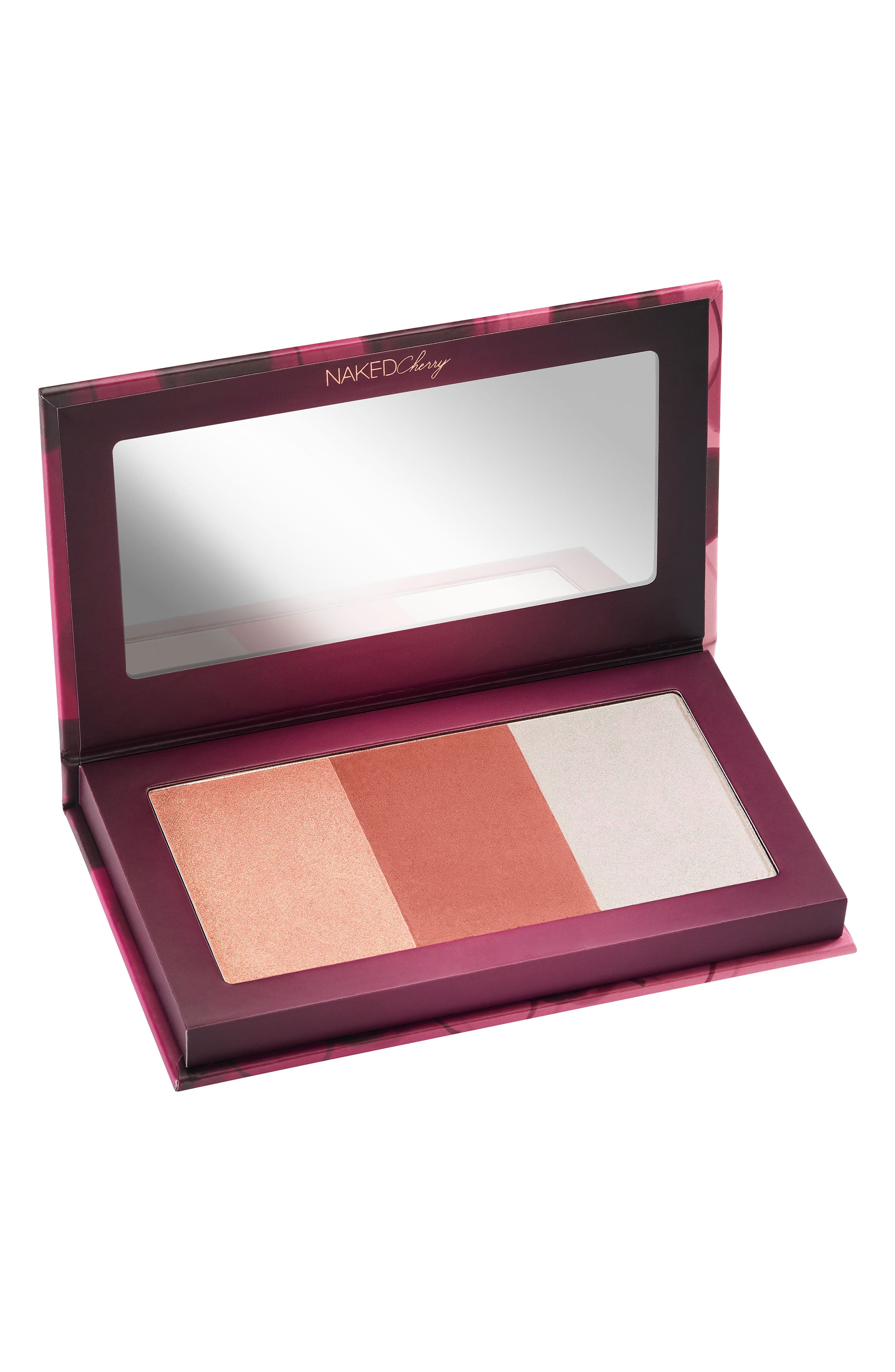 Naked Cherry Highlight and Blush Palette,                         Main,                         color, NO COLOR