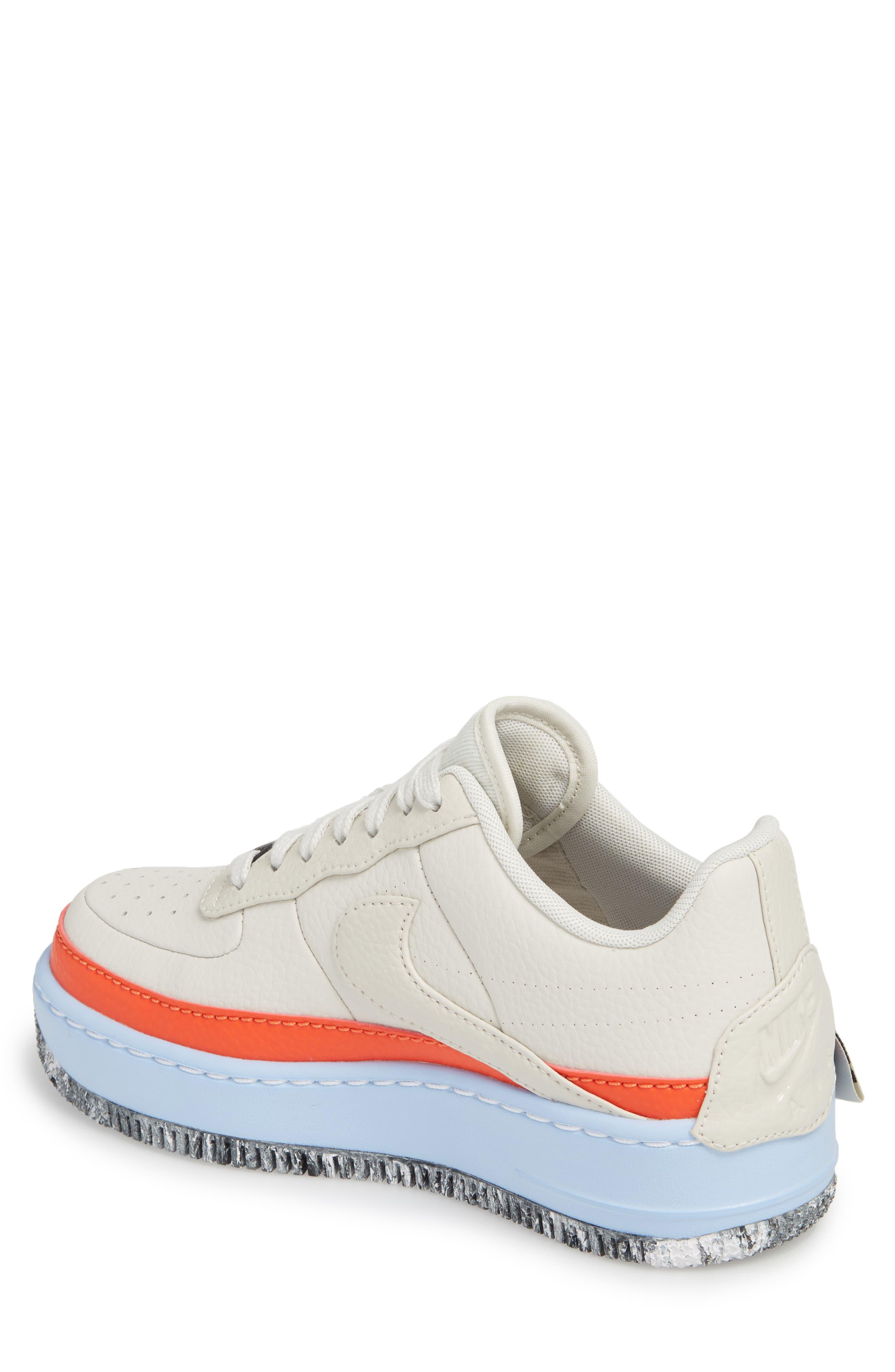 Air Force 1 Jester XX Sneaker,                             Alternate thumbnail 2, color,                             LIGHT BONE/ TEAM ORANGE