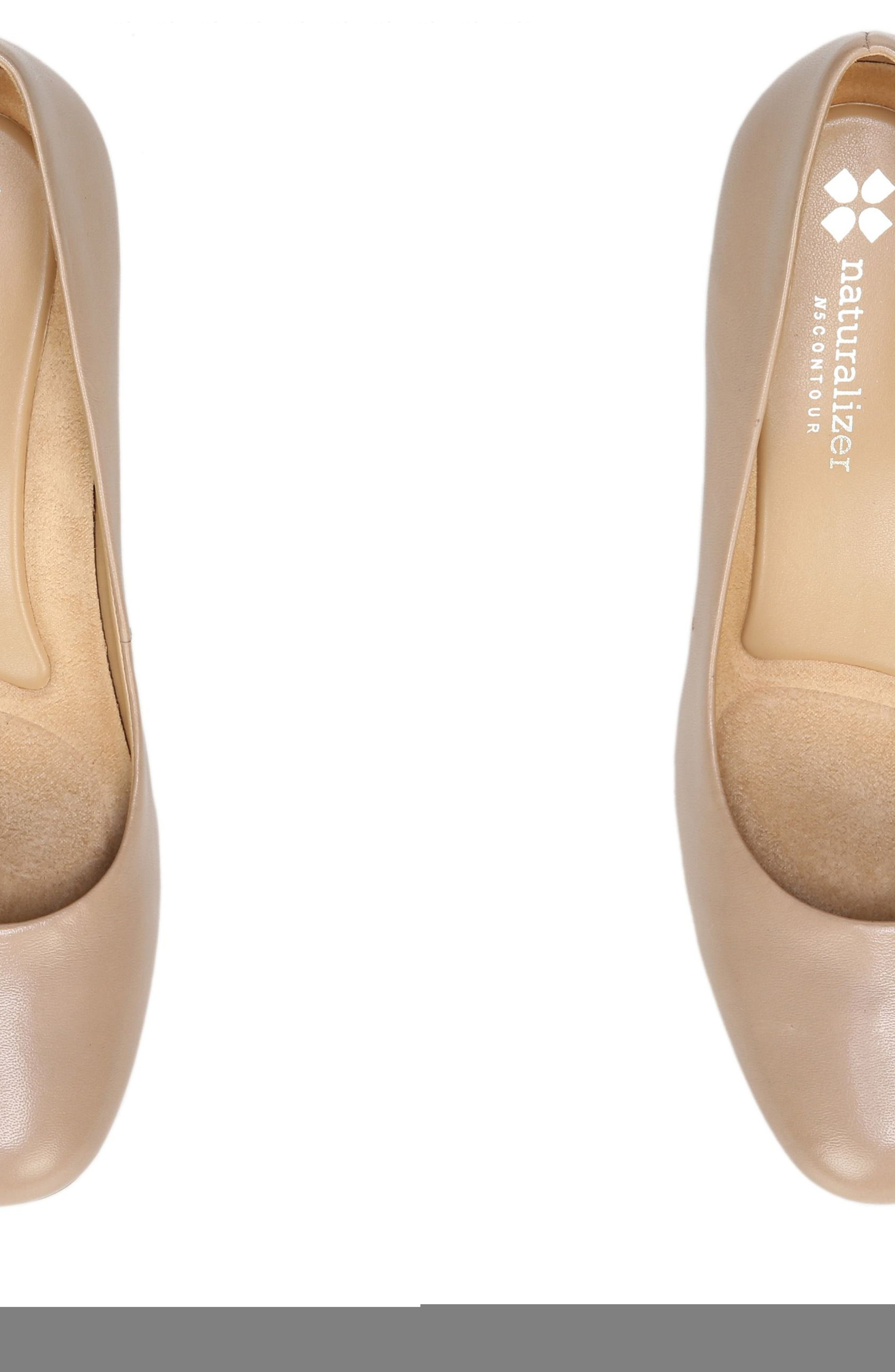 Whitney Pump,                             Alternate thumbnail 5, color,                             TENDER TAUPE LEATHER