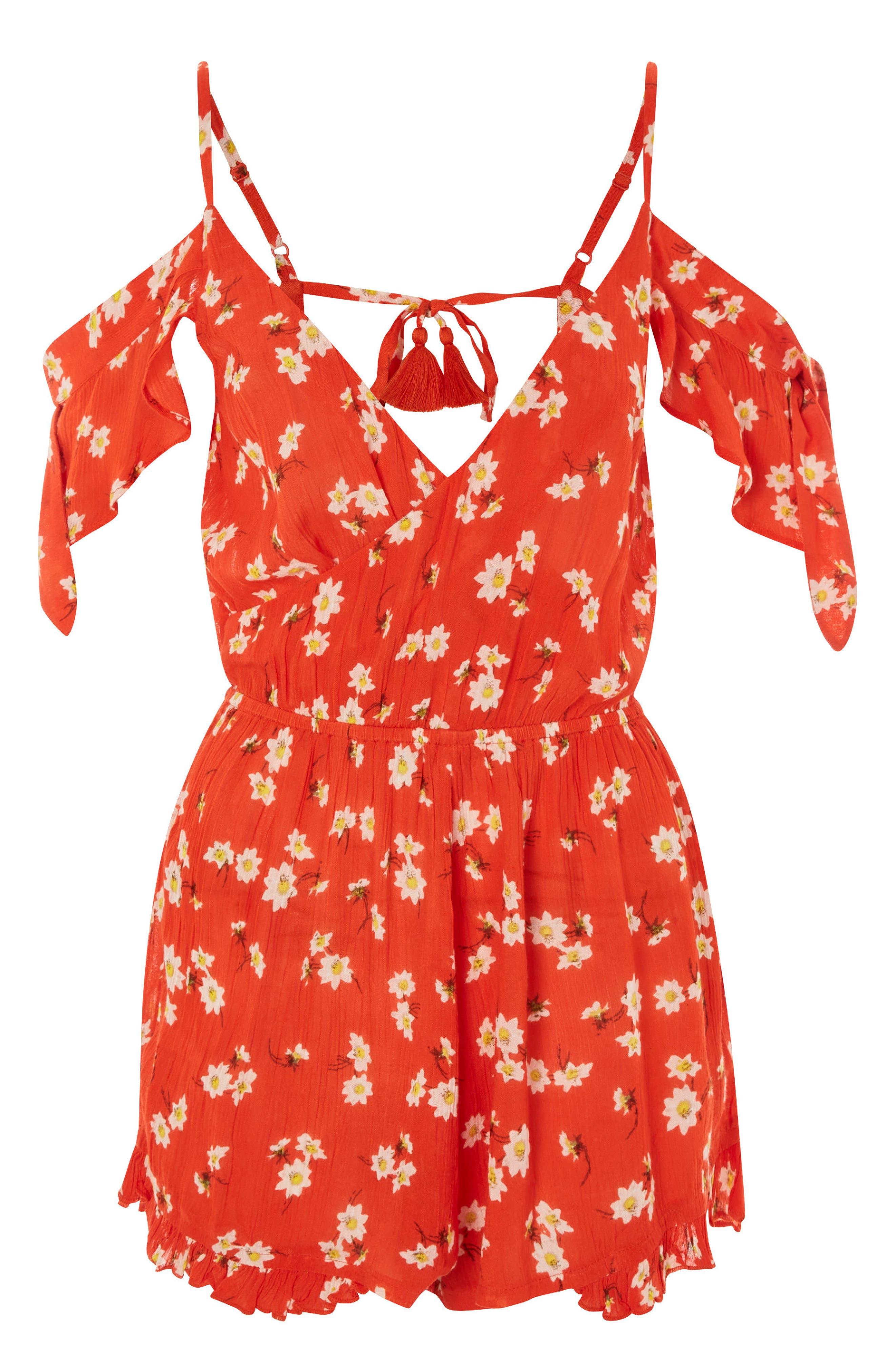 Daisy Floral Print Jumpsuit,                             Alternate thumbnail 3, color,
