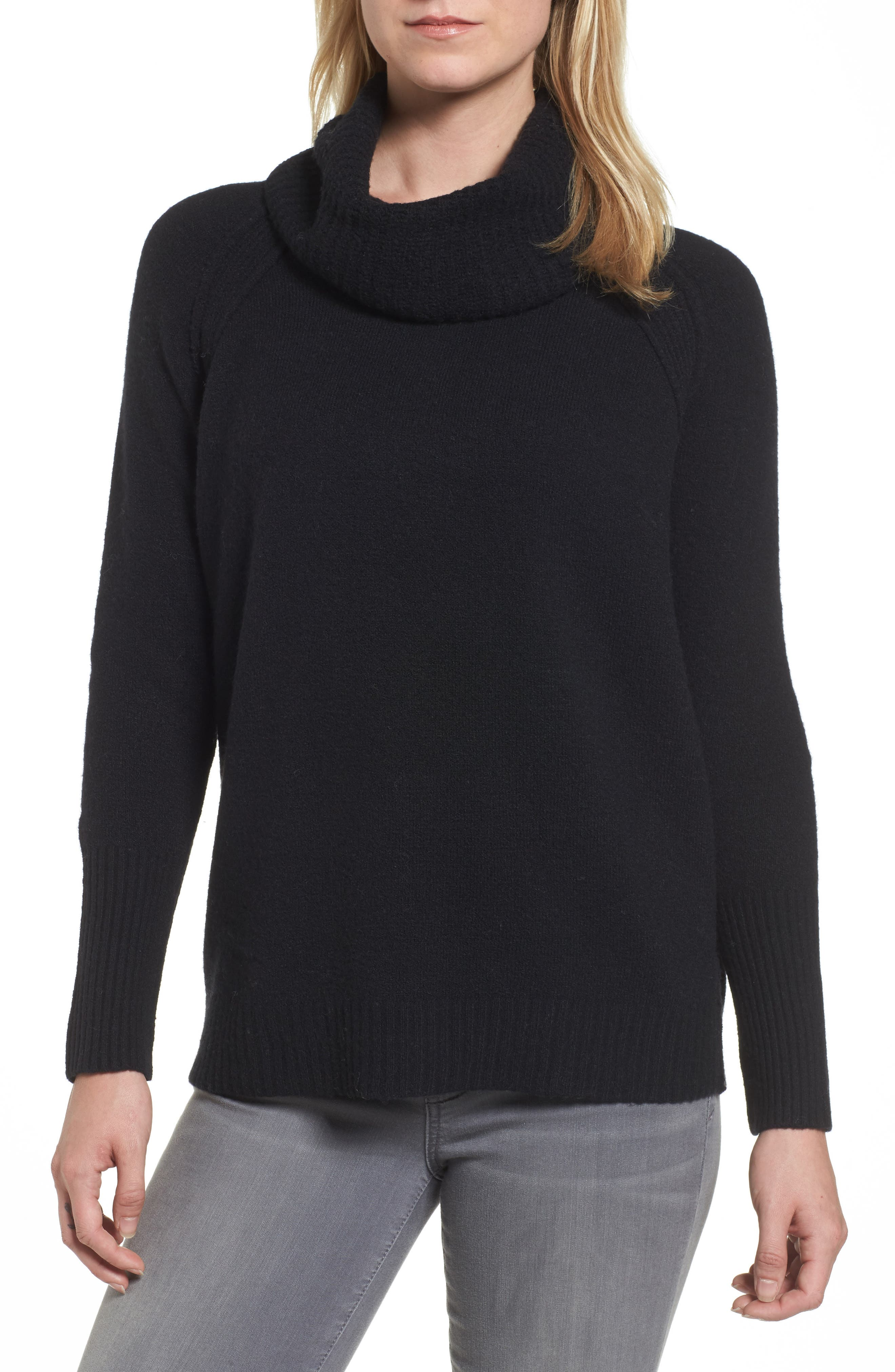 Cowl Neck Sweater,                         Main,                         color, 001