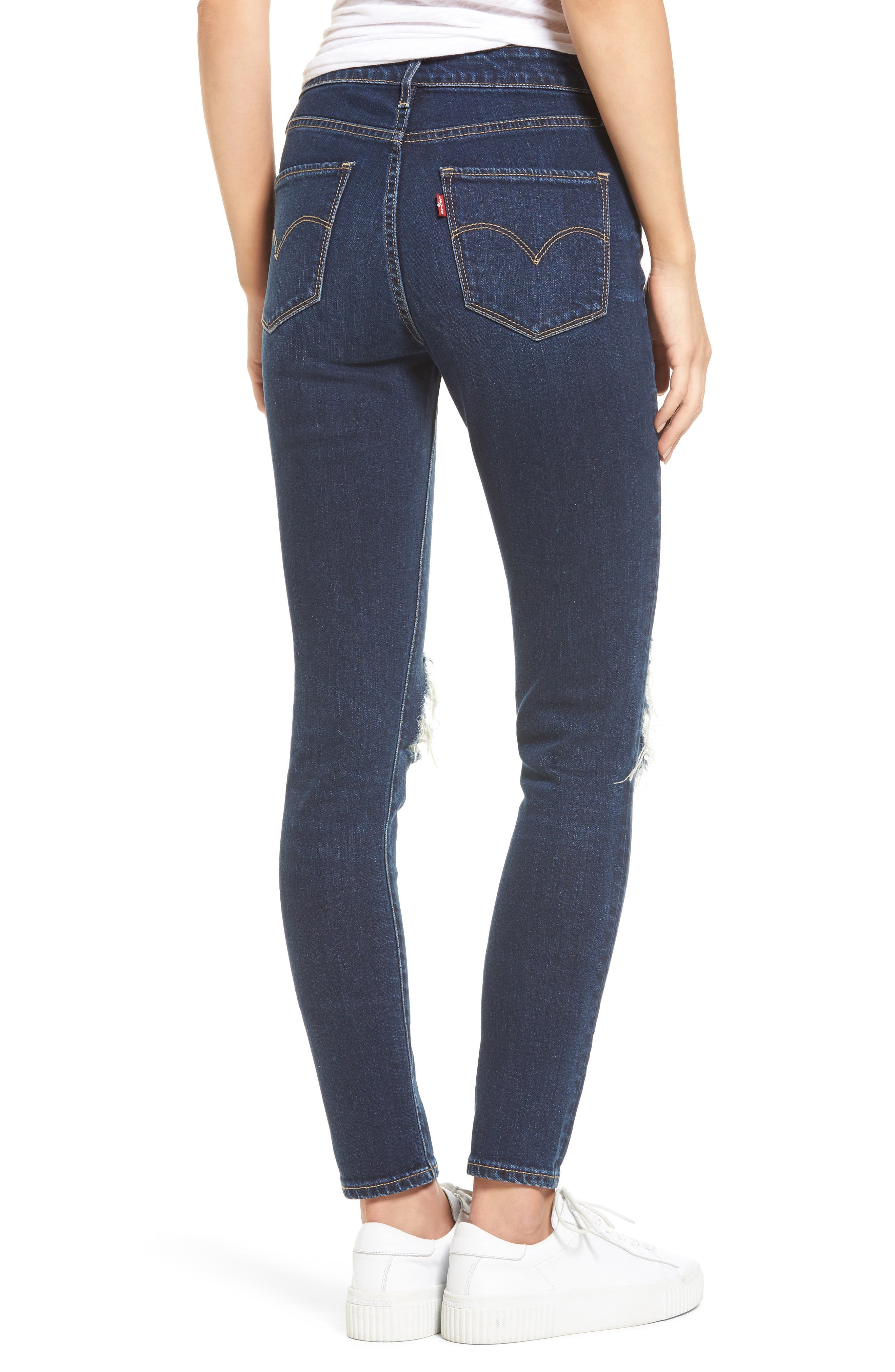 721 Ripped High Waist Skinny Jeans,                             Alternate thumbnail 2, color,                             420