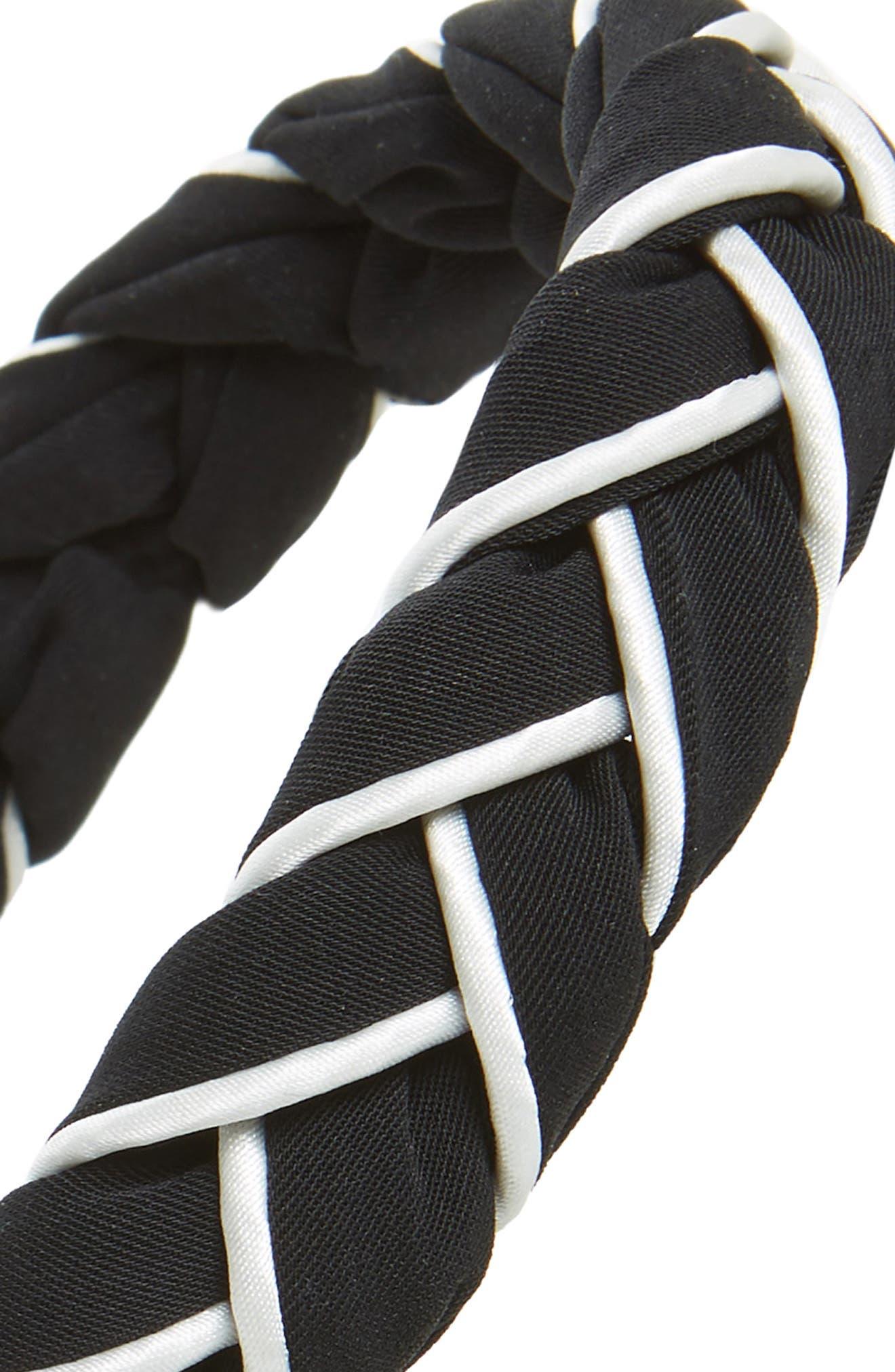Twist Wrap Fabric Headband,                             Alternate thumbnail 2, color,                             001