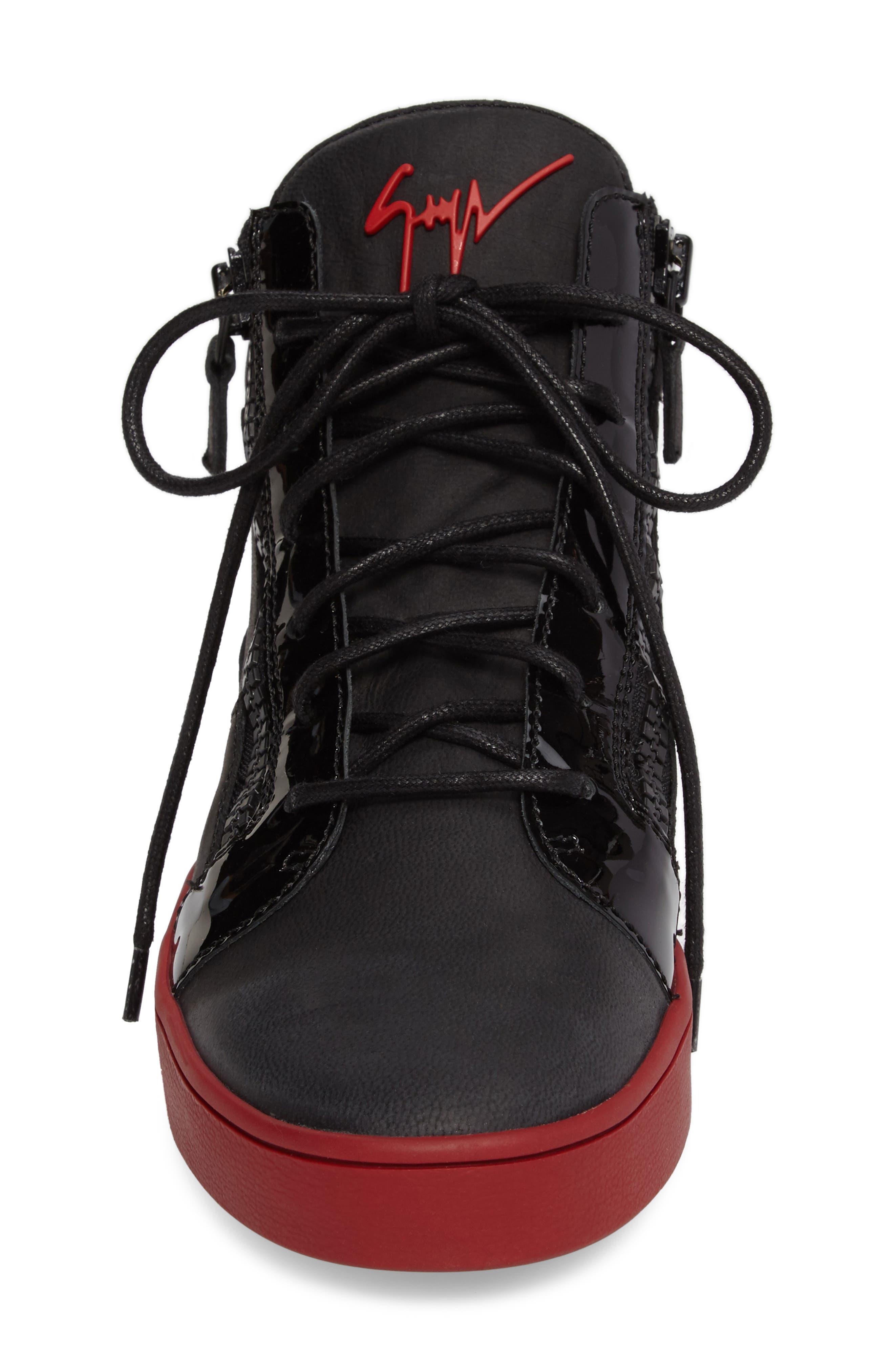 Mid Top Sneaker,                             Alternate thumbnail 4, color,                             001