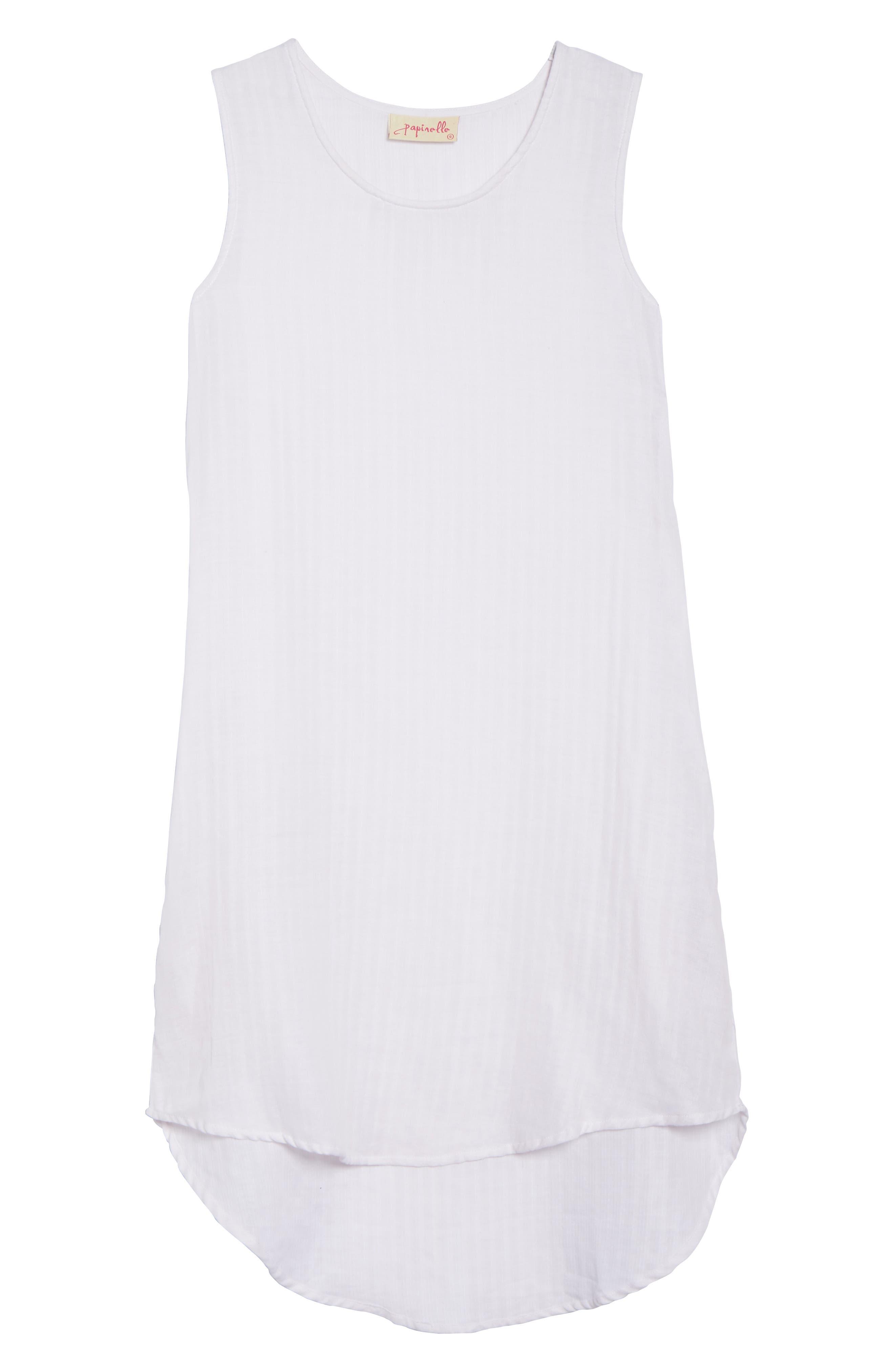 Basic Stripe Nightgown,                             Alternate thumbnail 6, color,                             110