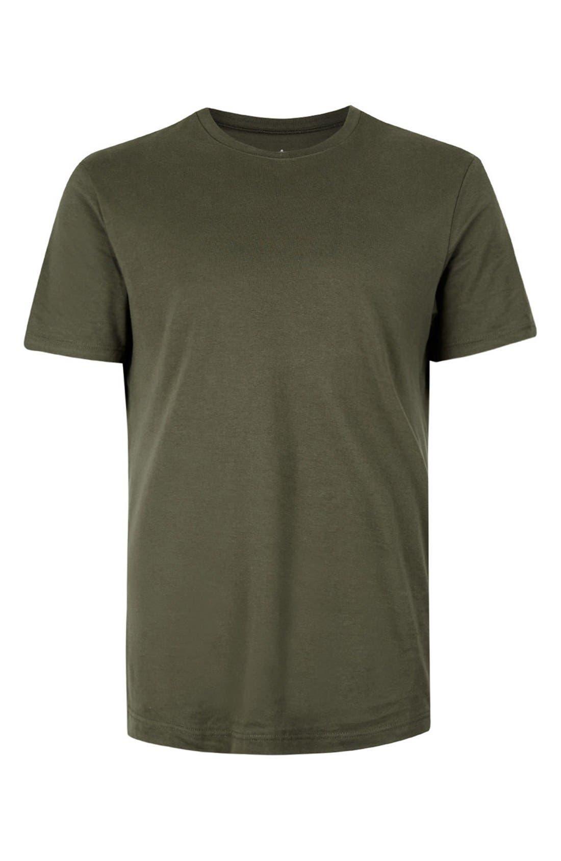Slim Fit Crewneck T-Shirt,                             Alternate thumbnail 436, color,