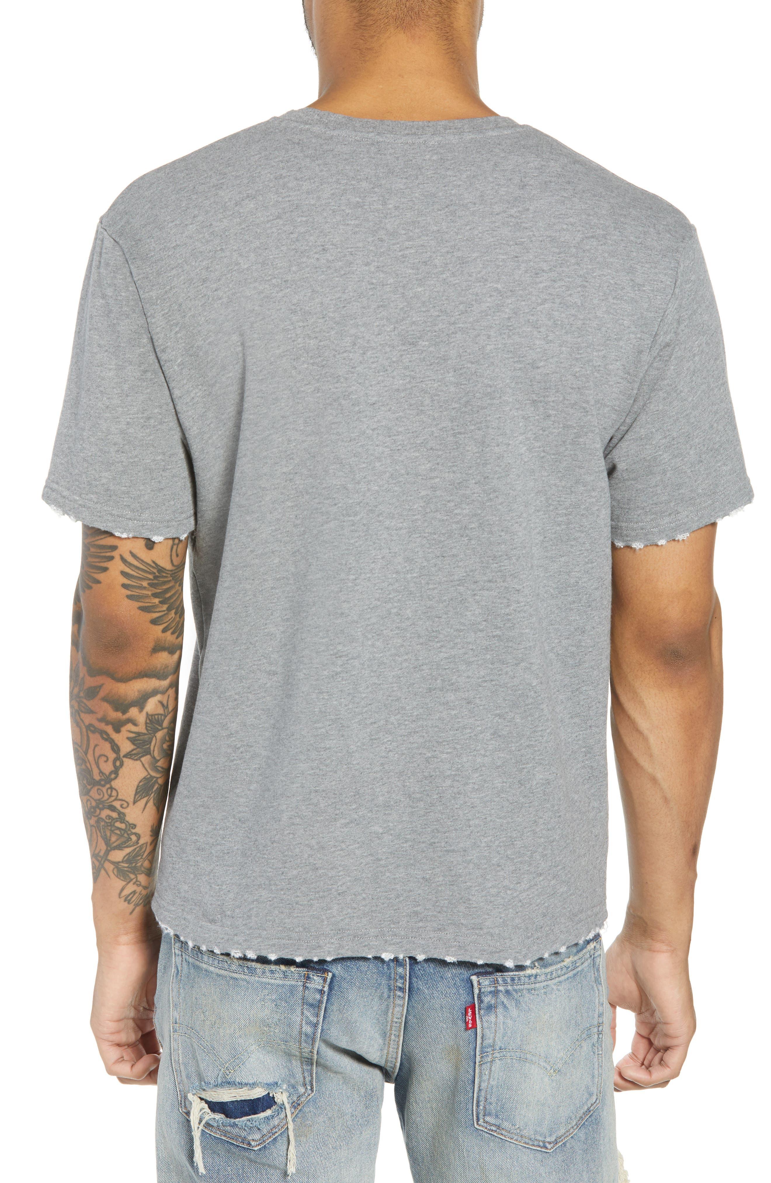 Classic Fit Short Sleeve Sweatshirt,                             Alternate thumbnail 2, color,                             020