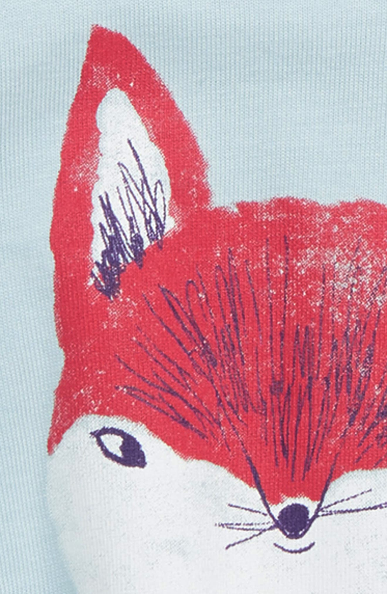 Friendly Fox Swing Top,                             Alternate thumbnail 2, color,                             STERLING BLUE