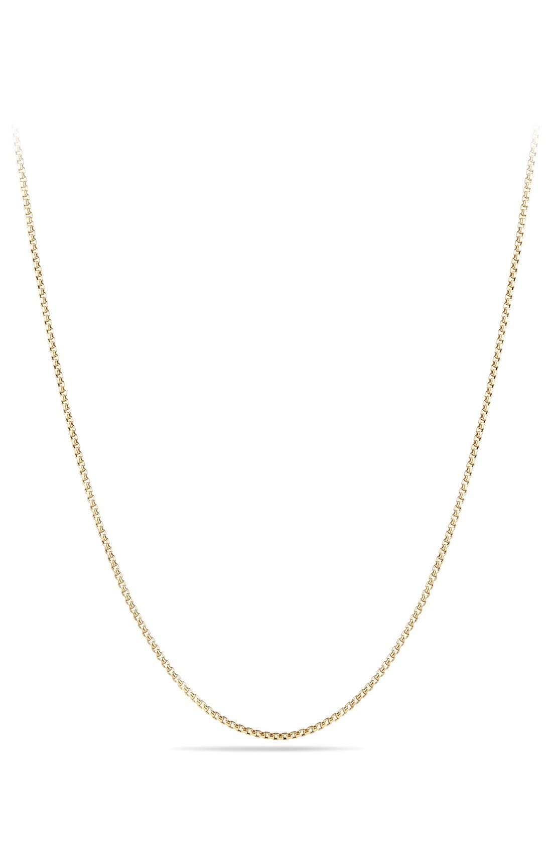 Box Chain Necklace in 18K Gold,                             Main thumbnail 1, color,                             YELLOW GOLD