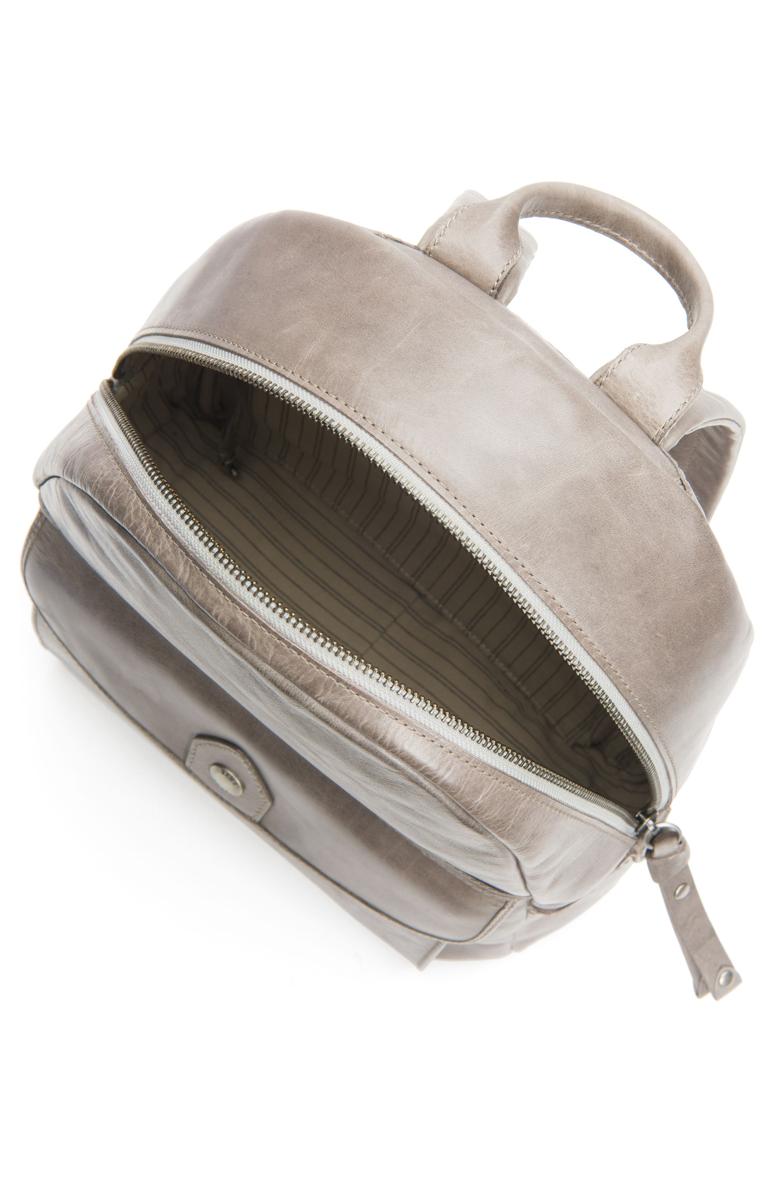 Melissa Leather Backpack,                             Alternate thumbnail 4, color,                             020