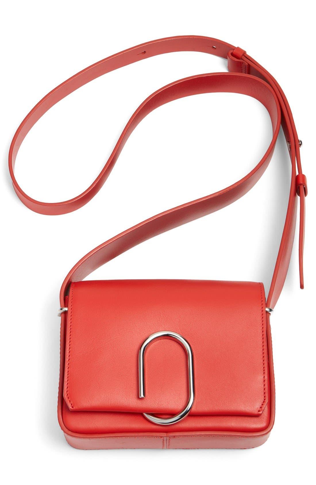'Mini Alix' Leather Shoulder Bag,                             Alternate thumbnail 13, color,