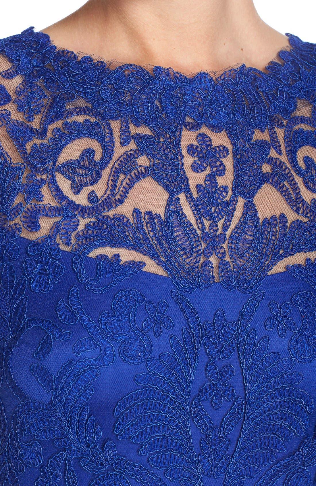 Illusion Yoke Lace Sheath Dress,                             Alternate thumbnail 94, color,