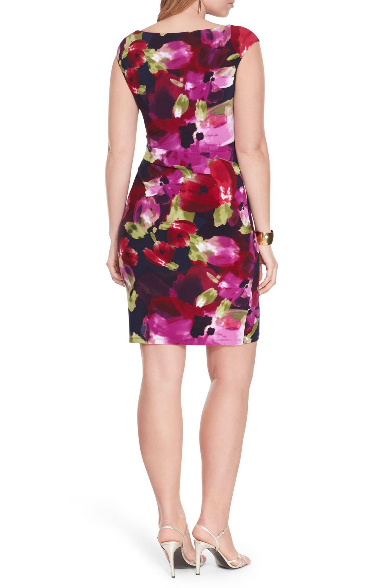 Cowl Neck Jersey Dress,                             Alternate thumbnail 2, color,