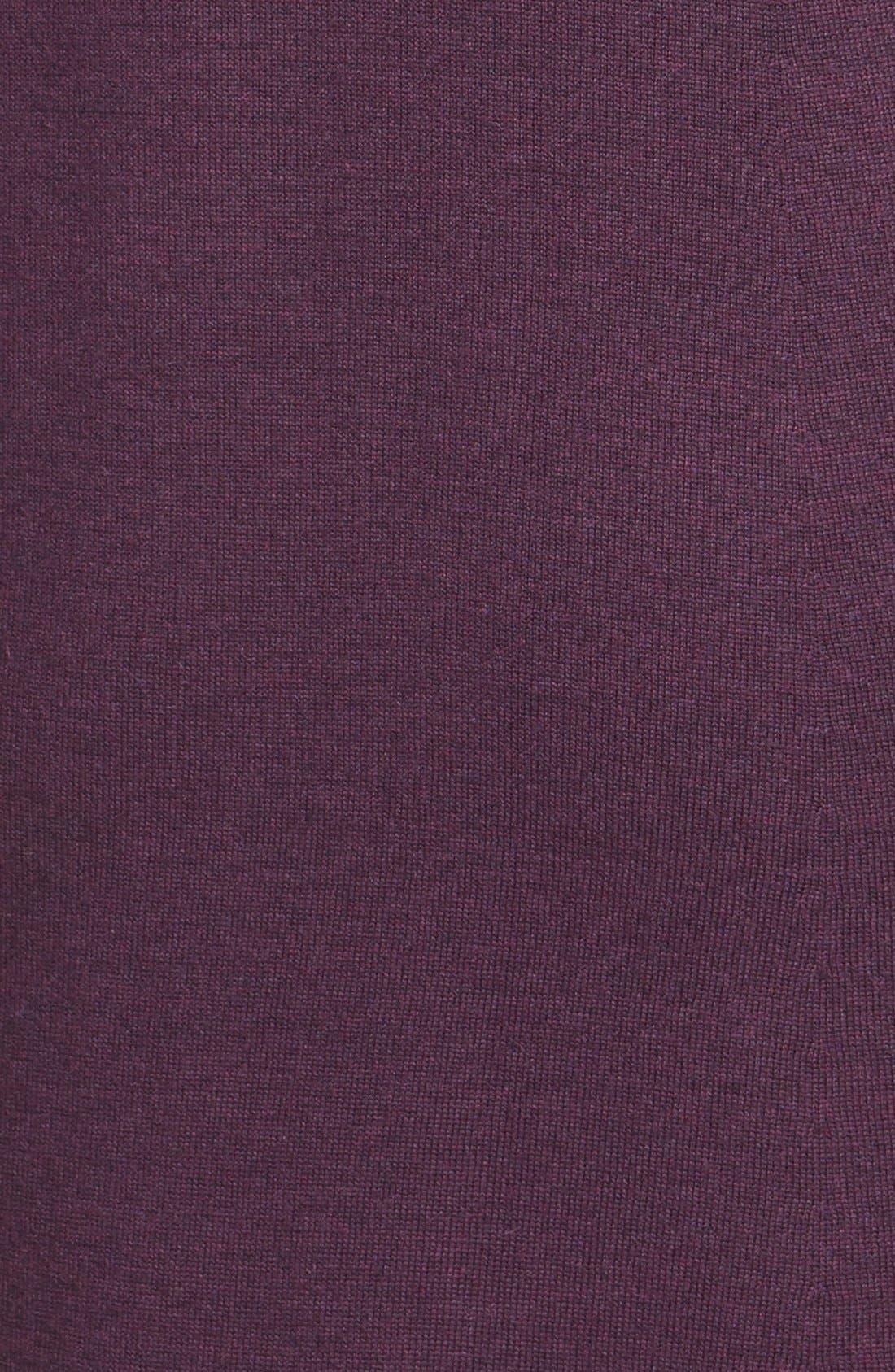 Lightweight Merino Jersey V-Neck Tunic,                             Alternate thumbnail 101, color,