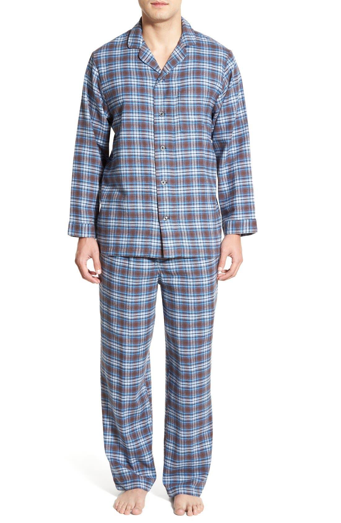 '824' Flannel Pajama Set,                             Main thumbnail 26, color,
