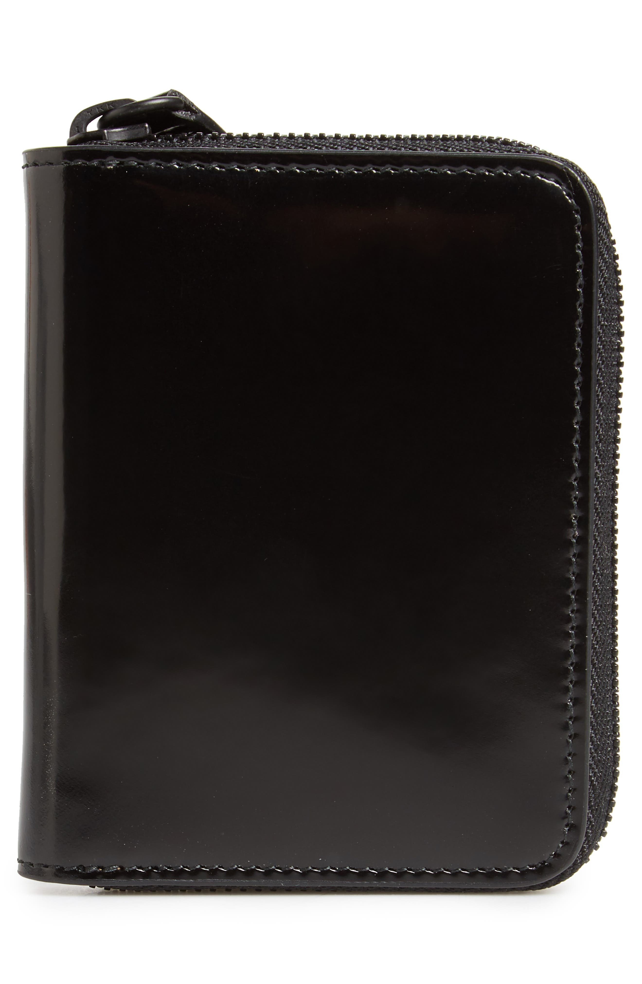 Patent Leather Zip Wallet,                             Alternate thumbnail 3, color,                             001