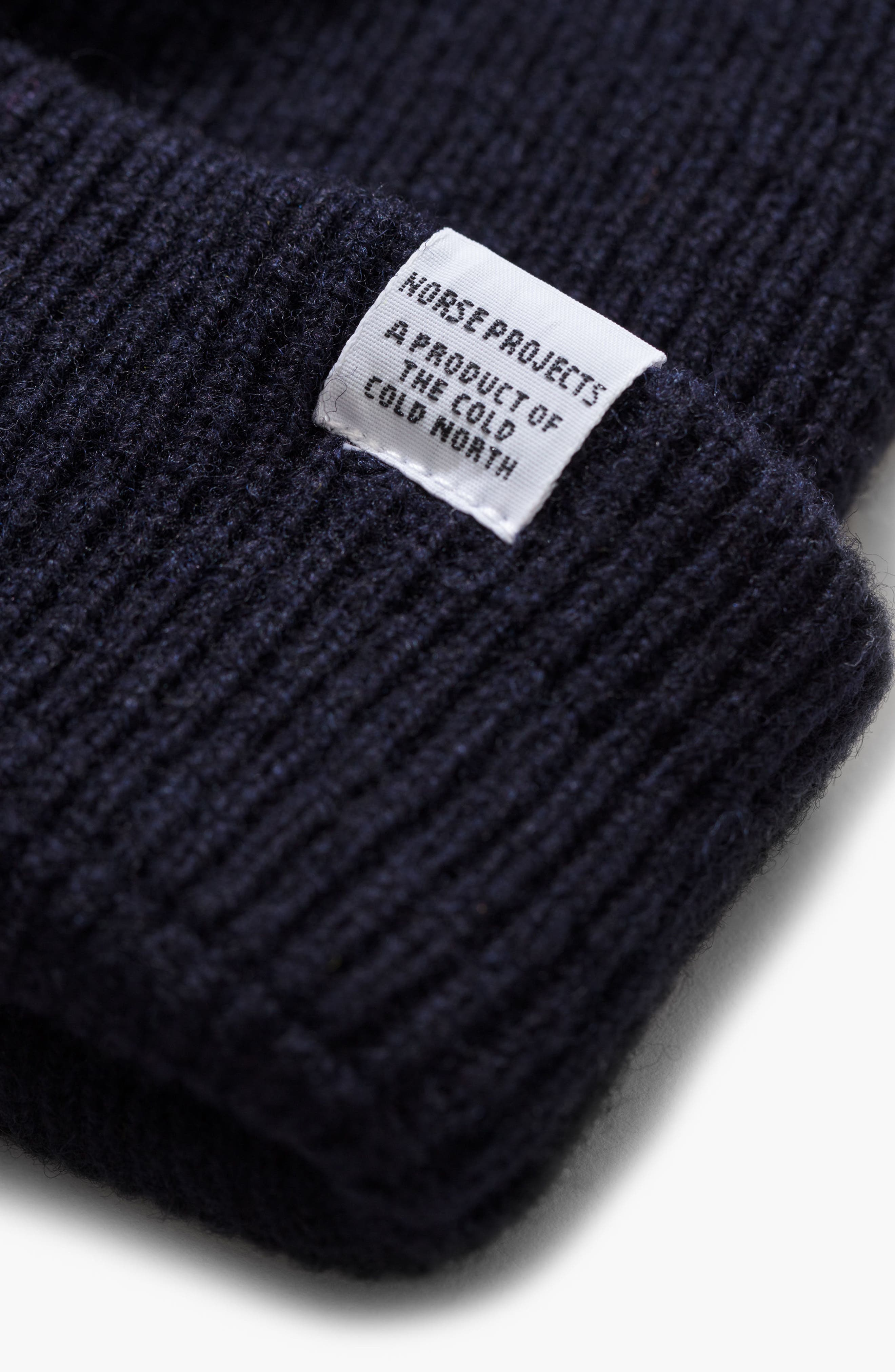 NORSE PROJECTS Norse Project Wool Knit Cap - Blue in Navy