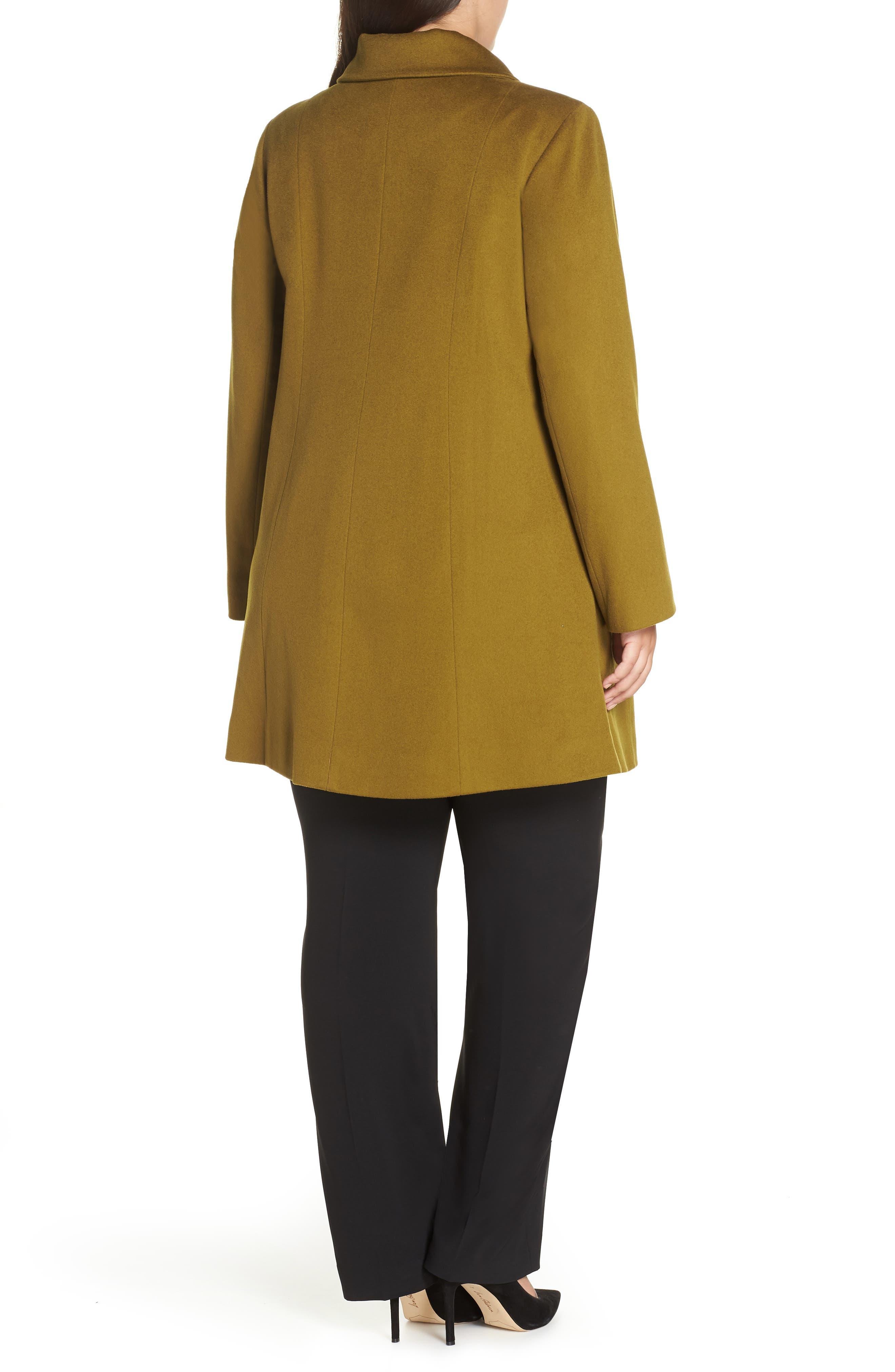 FLEURETTE,                             Loro Piana Wool Car Coat,                             Alternate thumbnail 2, color,                             305