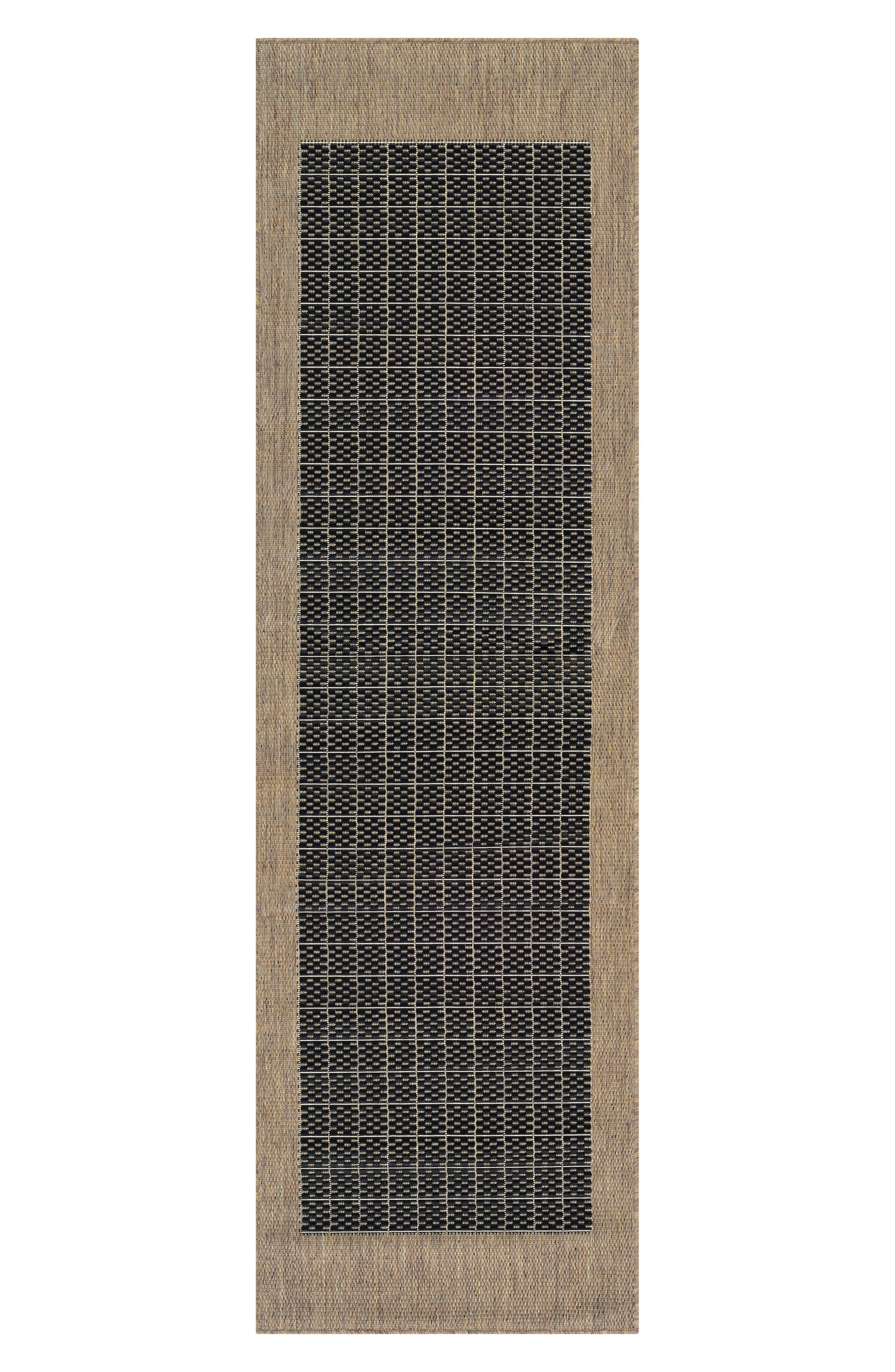 Checkered Field Indoor/Outdoor Rug,                             Alternate thumbnail 3, color,                             001