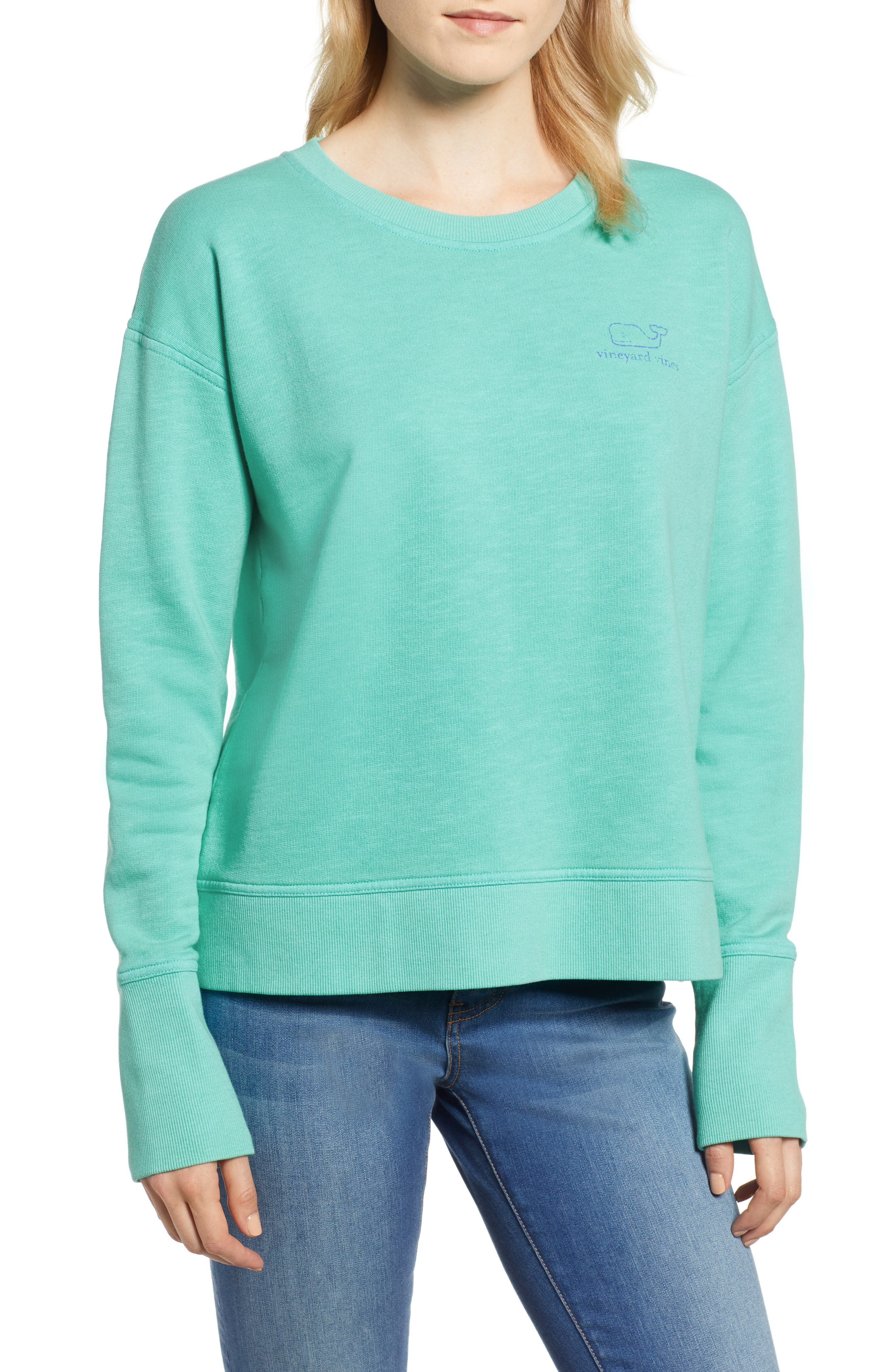 Garment Dyed Vintage Whale Long Sleeve Cotton Tee,                         Main,                         color, 464