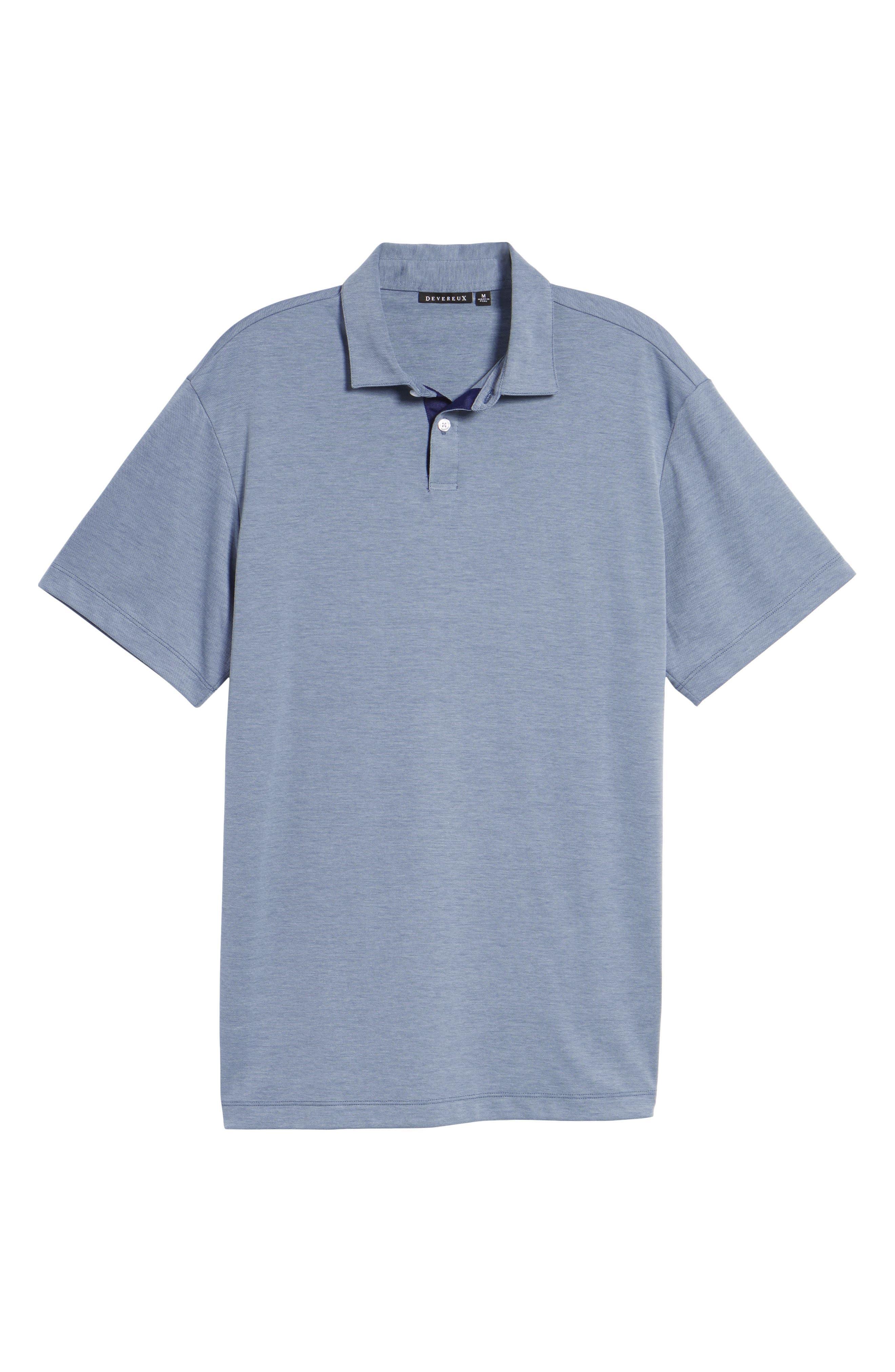 Andrew Regular Fit Piqué Polo,                             Alternate thumbnail 6, color,                             PURA VIDA BLUE