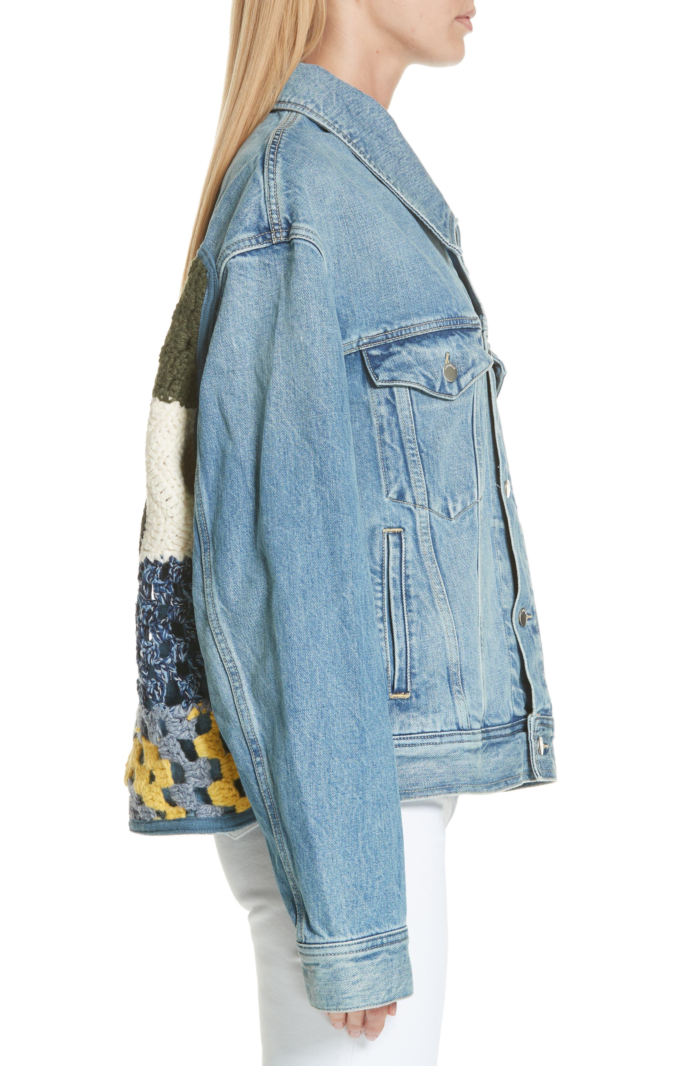 Denim Jacket,                             Alternate thumbnail 3, color,                             BLUE