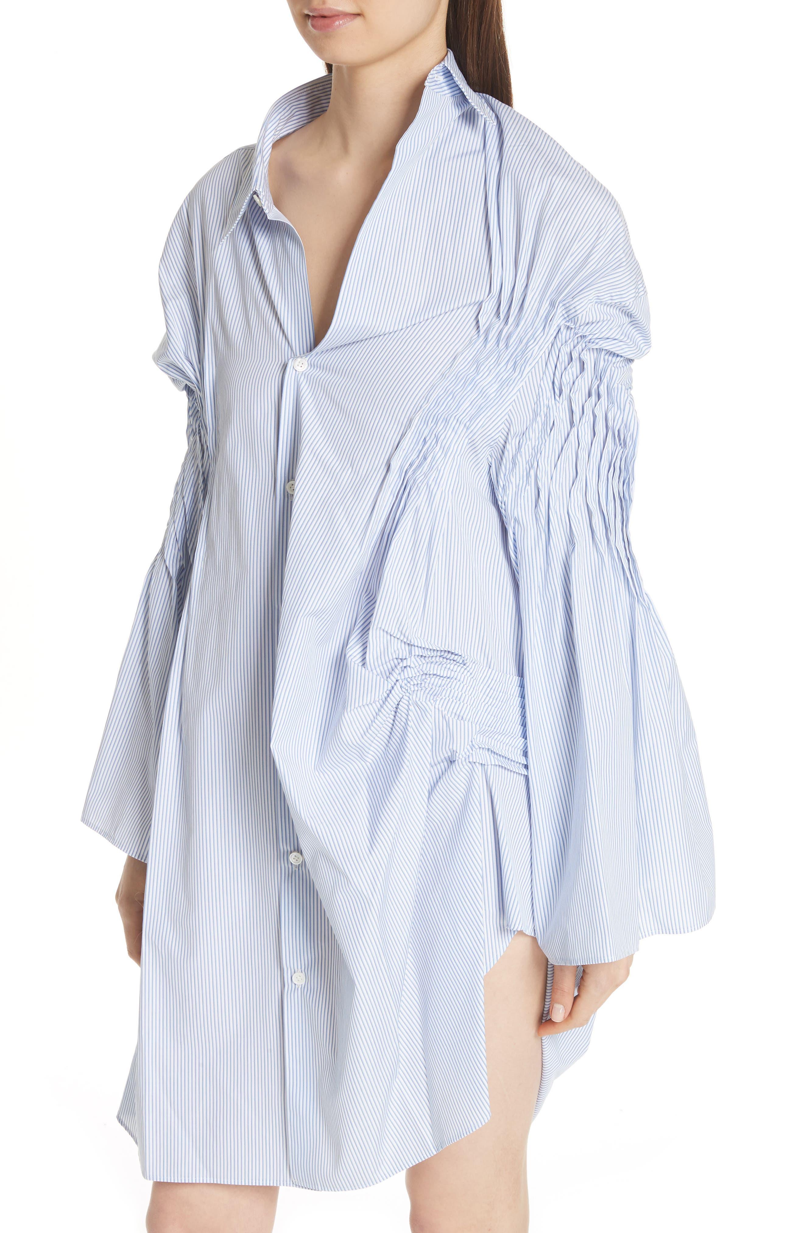 Asymmetrical Cotton Shirtdress,                             Alternate thumbnail 4, color,                             400