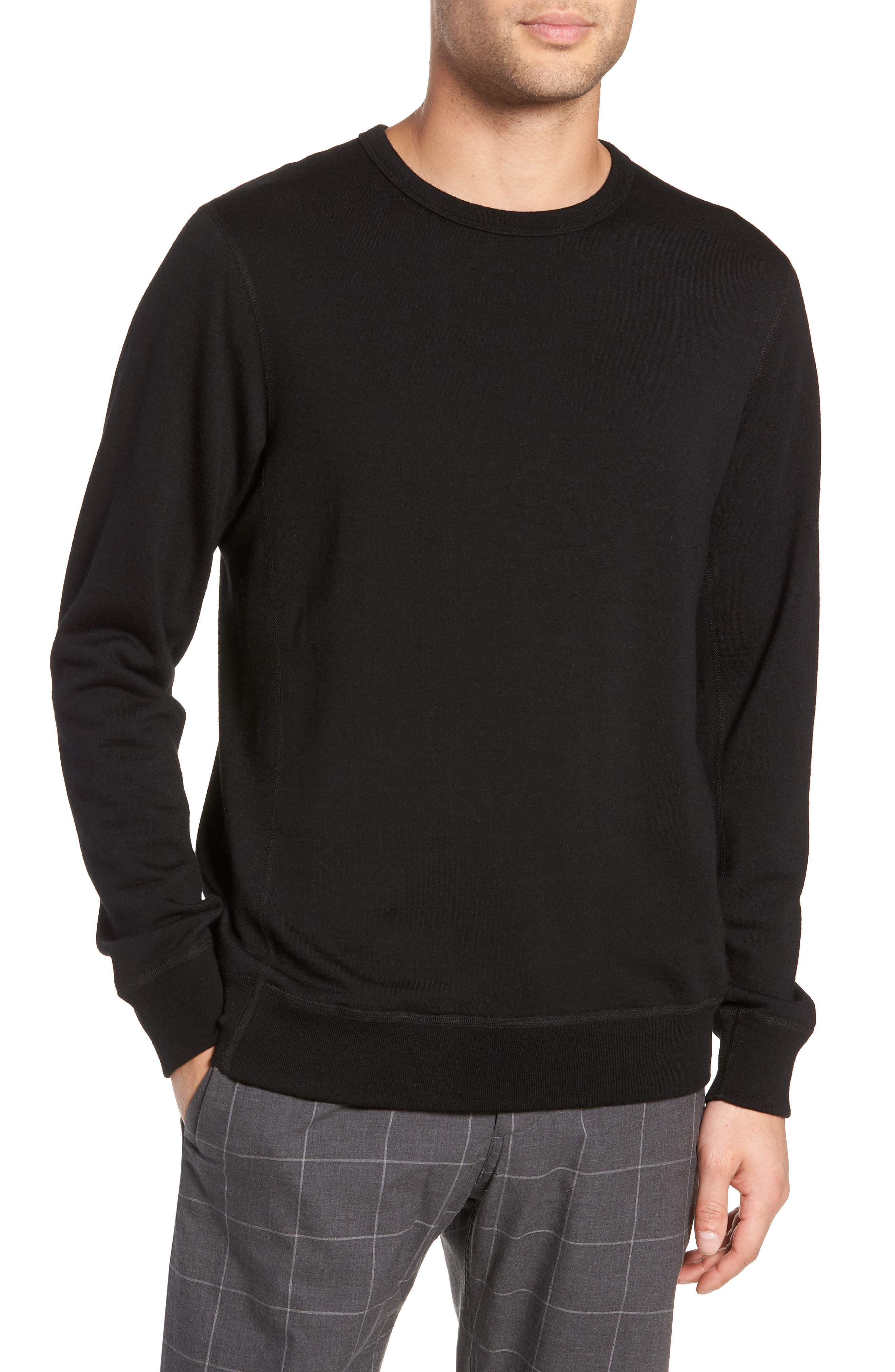 Swedish Merino Wool T-Shirt,                         Main,                         color, BLACK