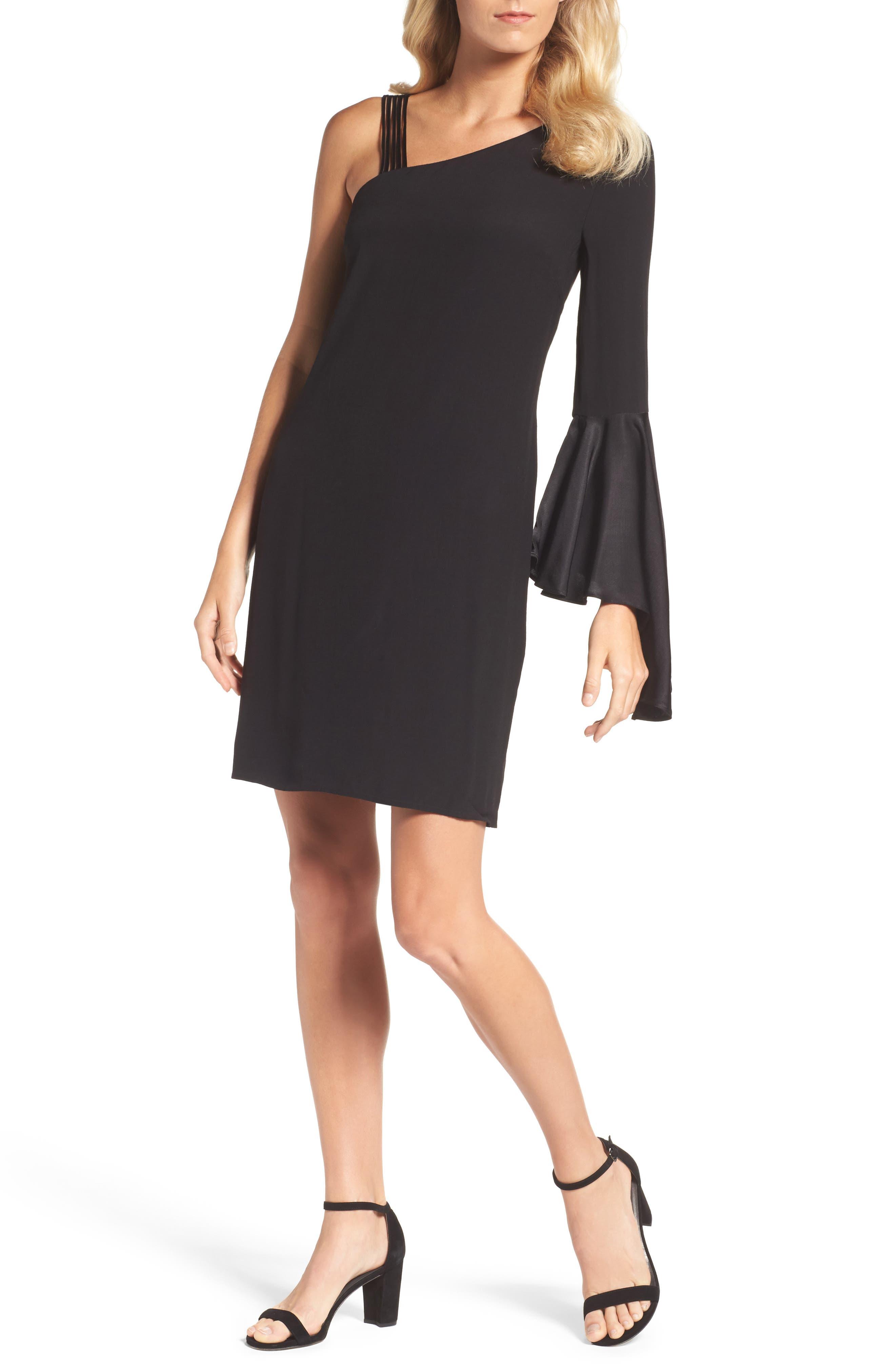 One-Shoulder Sheath Dress,                             Main thumbnail 1, color,                             004