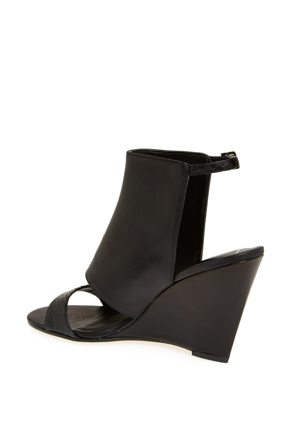 'Raley' Cuff Wedge Sandal,                             Alternate thumbnail 4, color,                             005