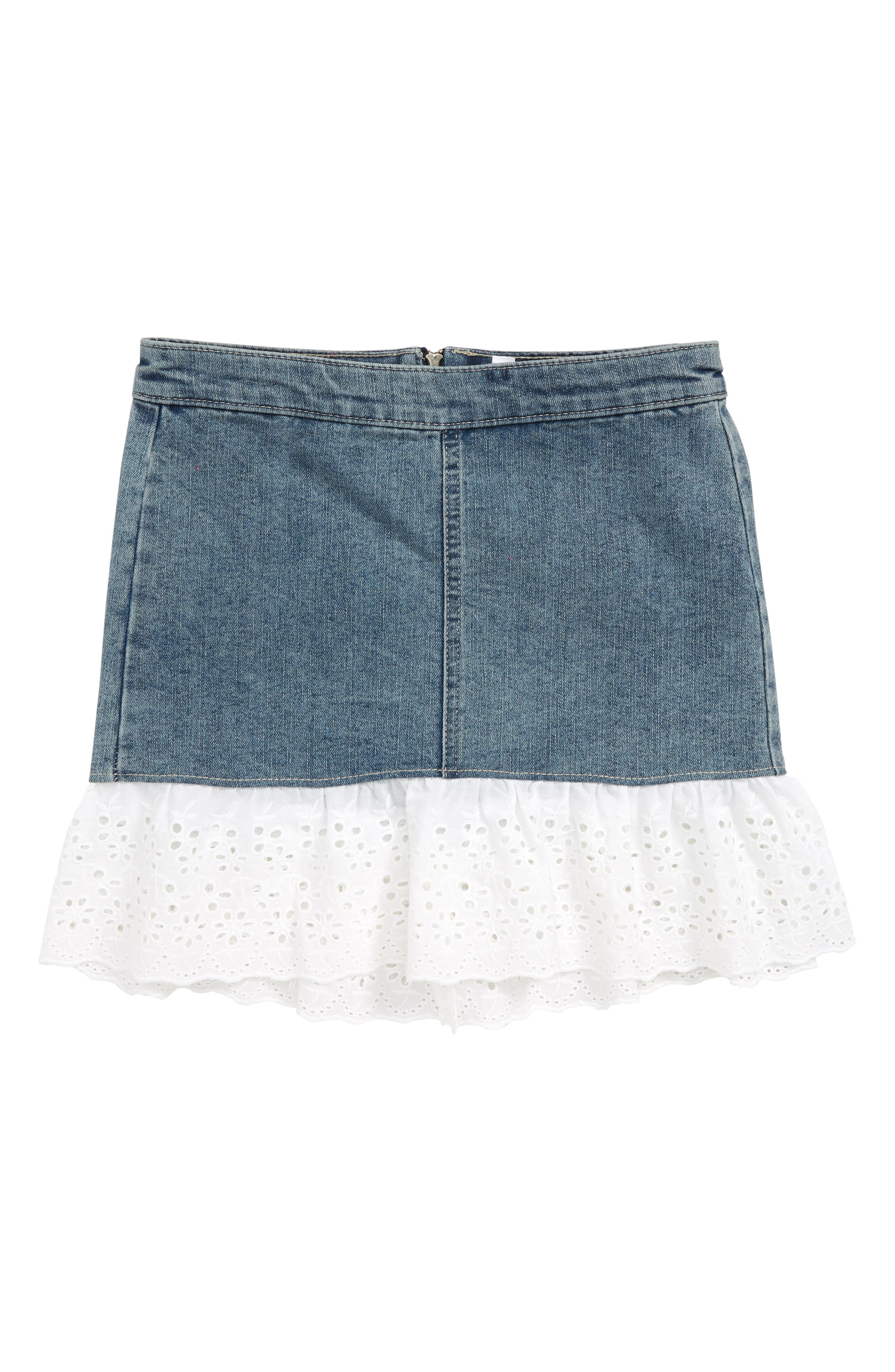 Denim Skirt,                             Main thumbnail 1, color,                             400