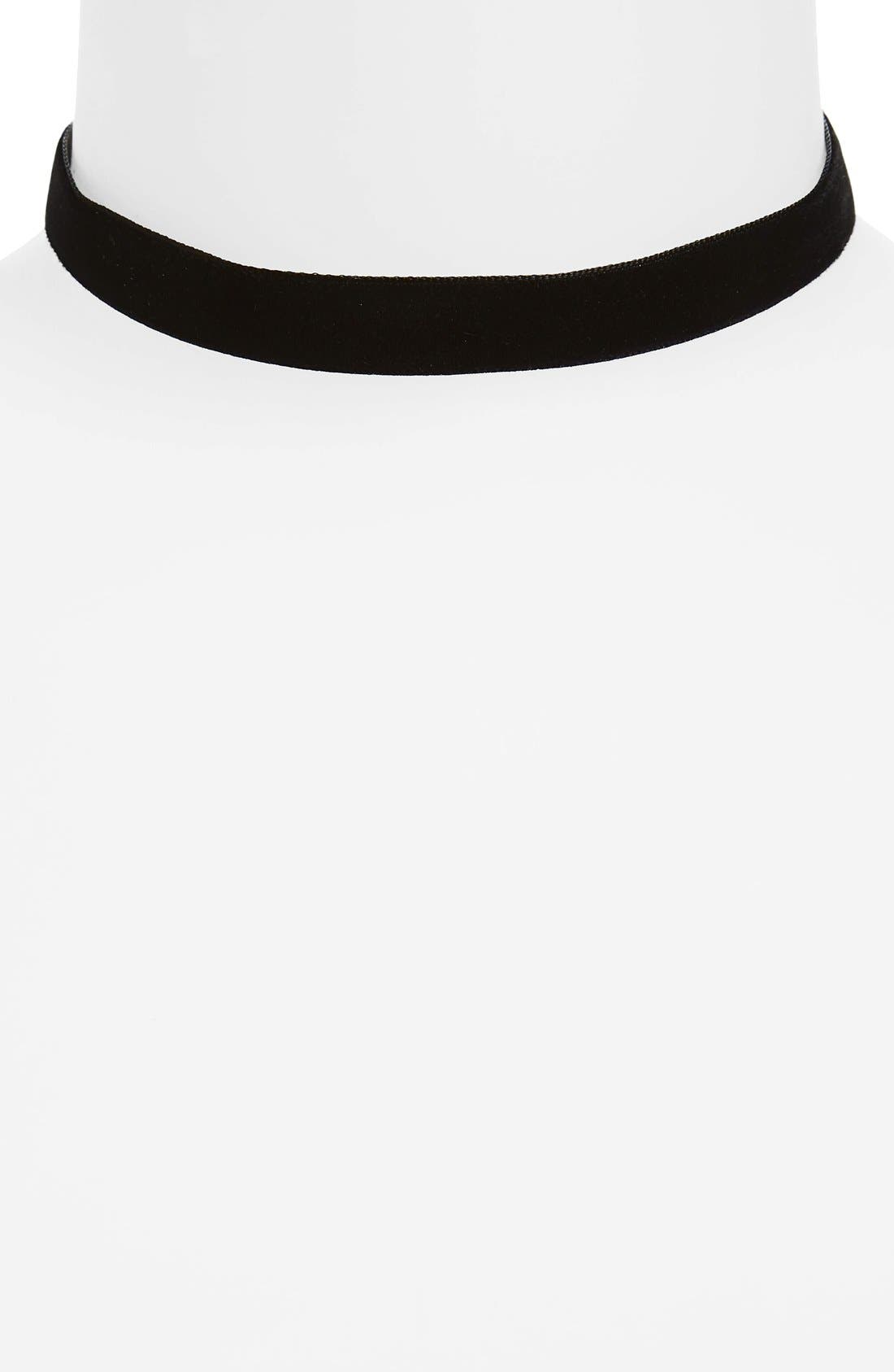 Velvet Choker,                         Main,                         color, 001