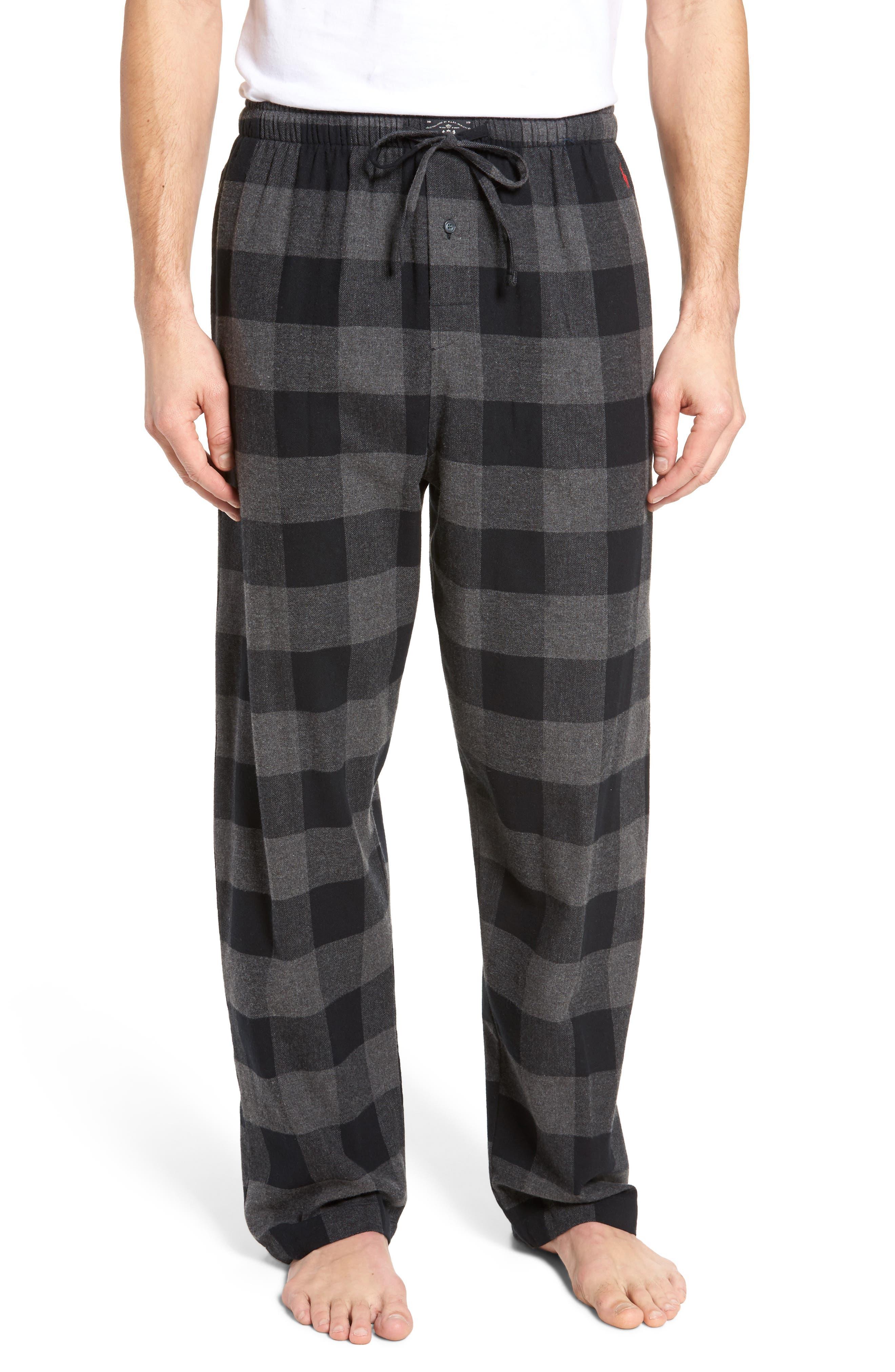 Flannel Pajama Pants,                             Main thumbnail 3, color,