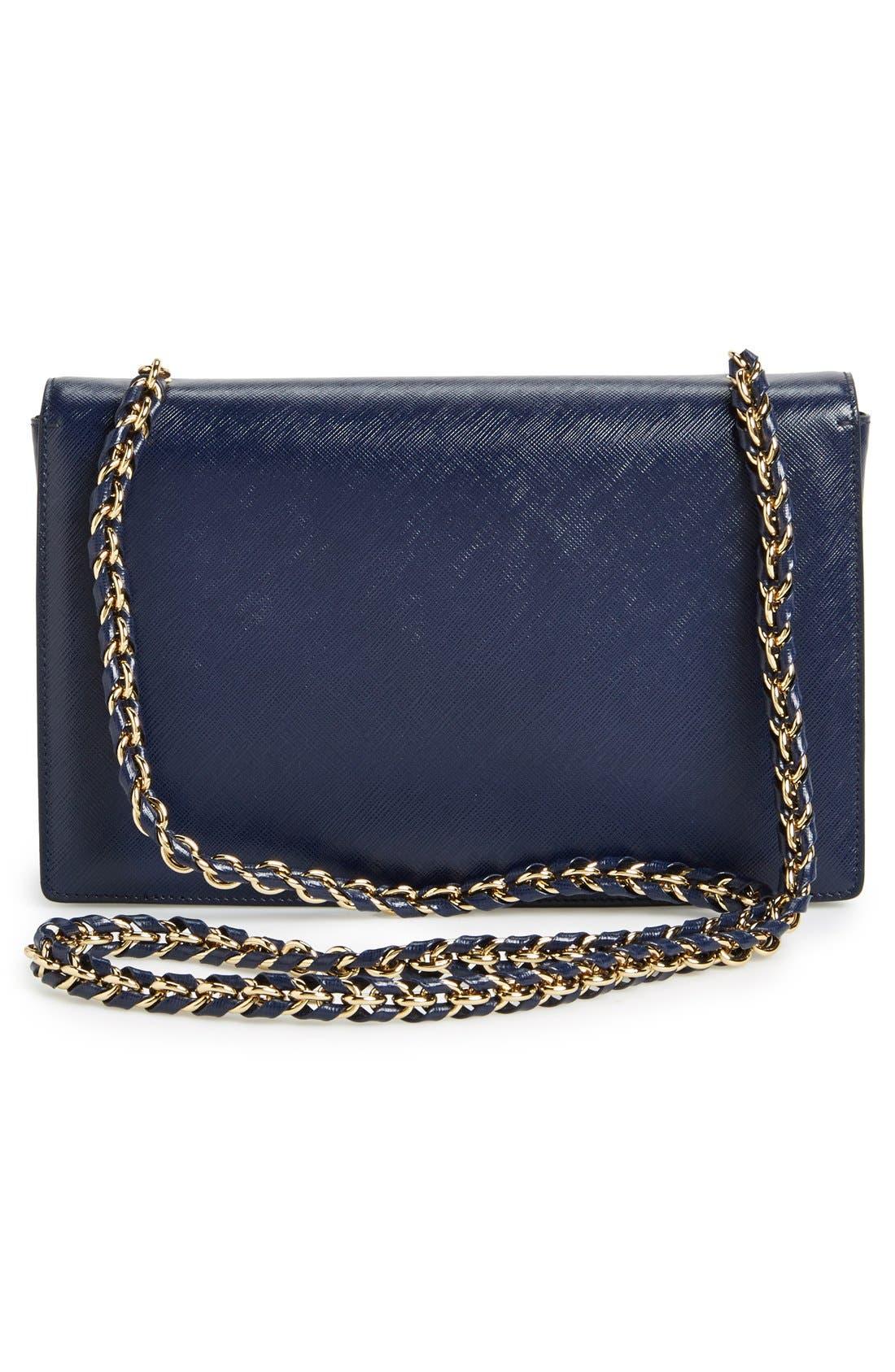 Saffiano Leather Shoulder Bag,                             Alternate thumbnail 15, color,