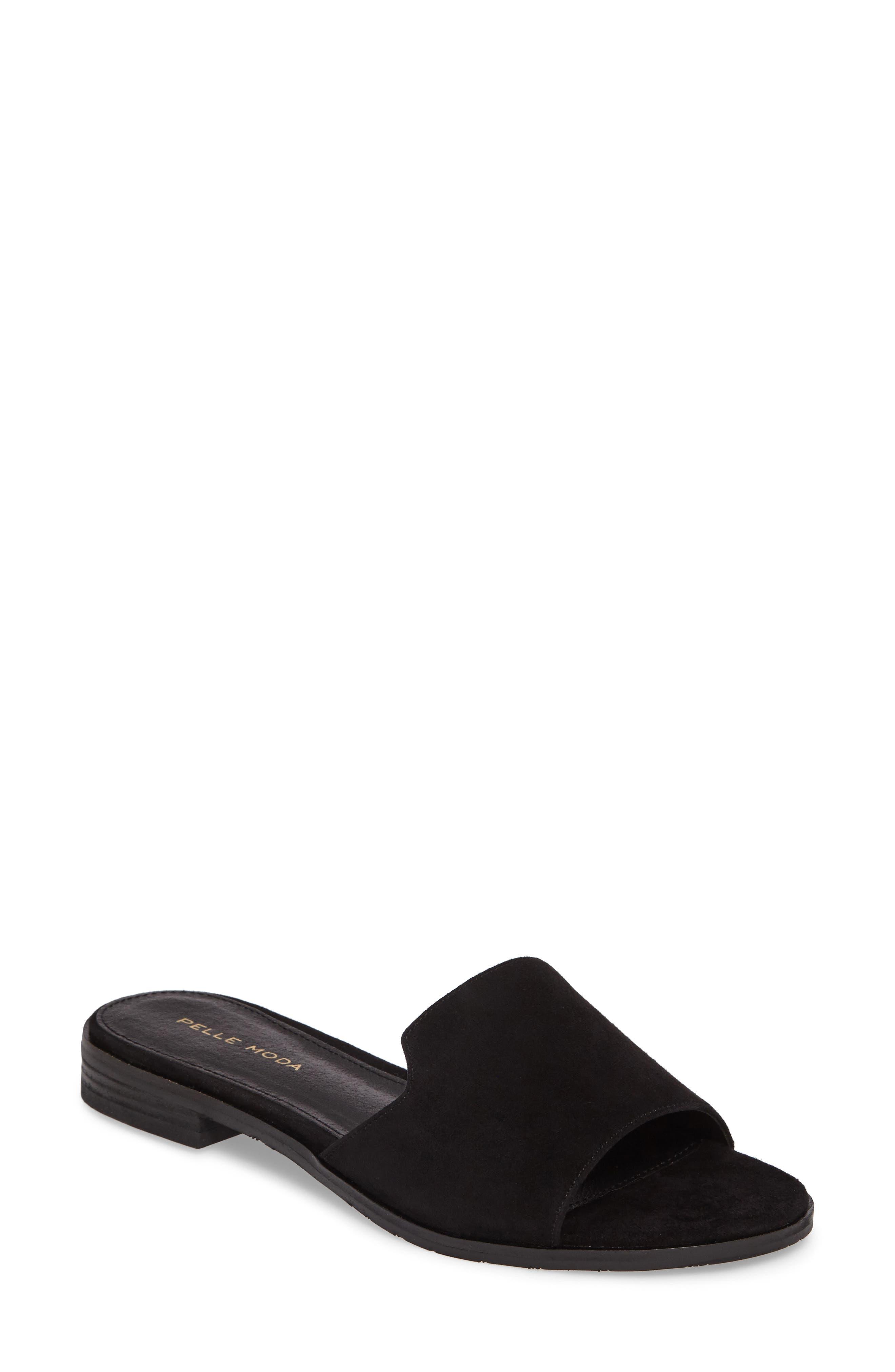 Hailey Slide Sandal,                             Main thumbnail 1, color,                             001