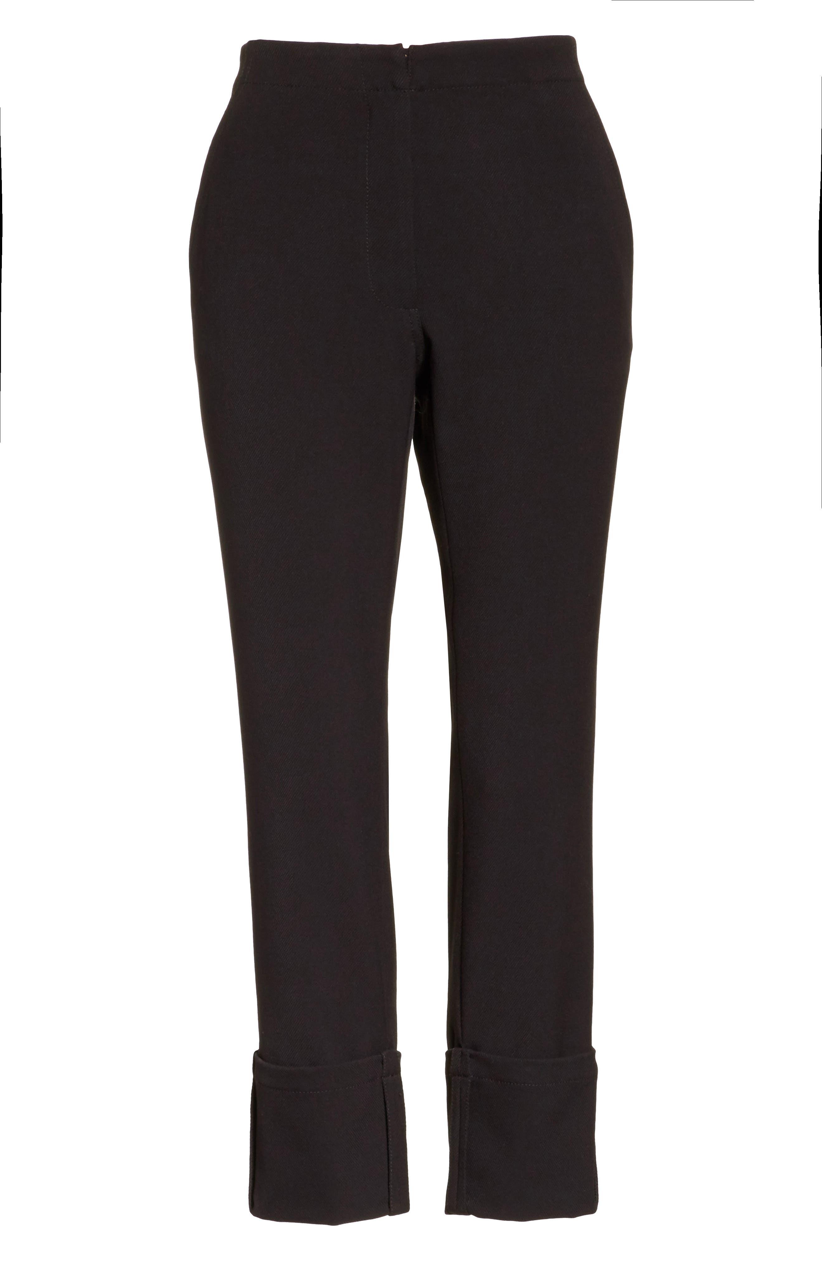Crop Straight Leg Pants,                             Alternate thumbnail 5, color,                             001