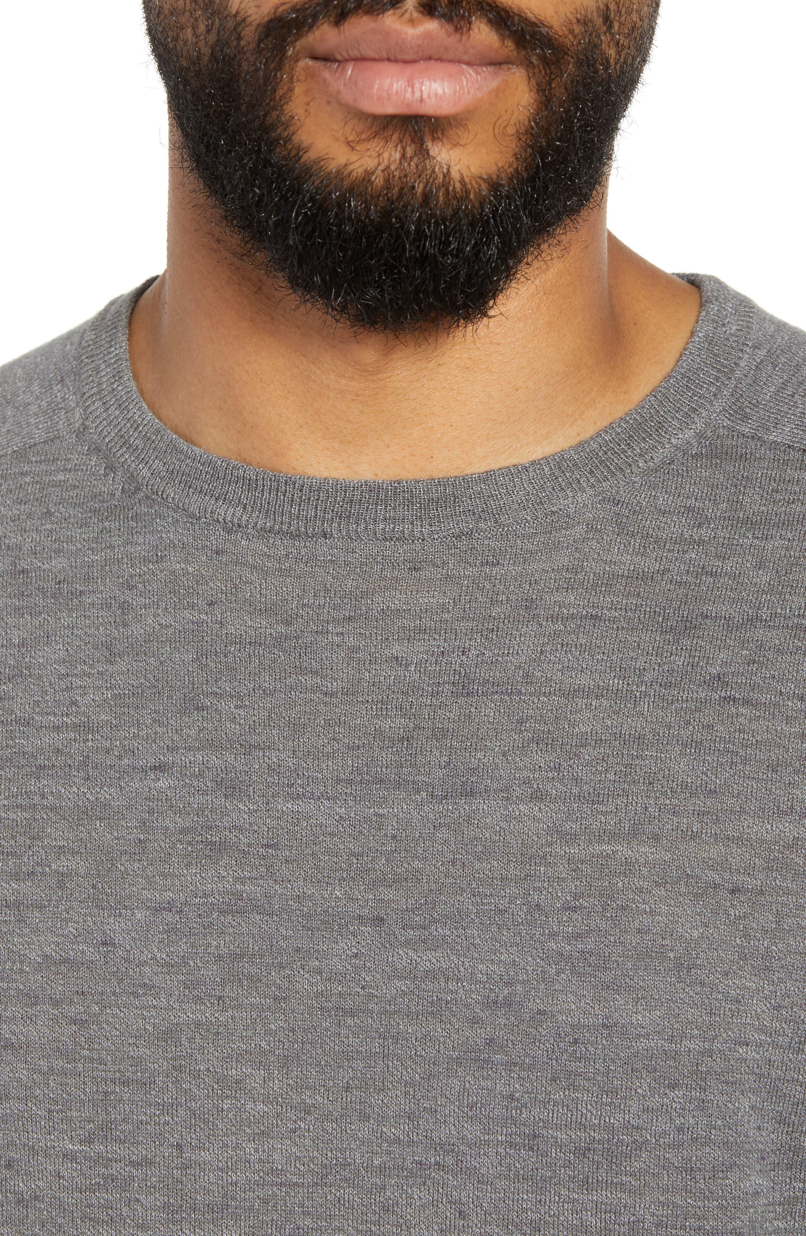 Cotton Blend Crewneck Sweater,                             Alternate thumbnail 4, color,                             022