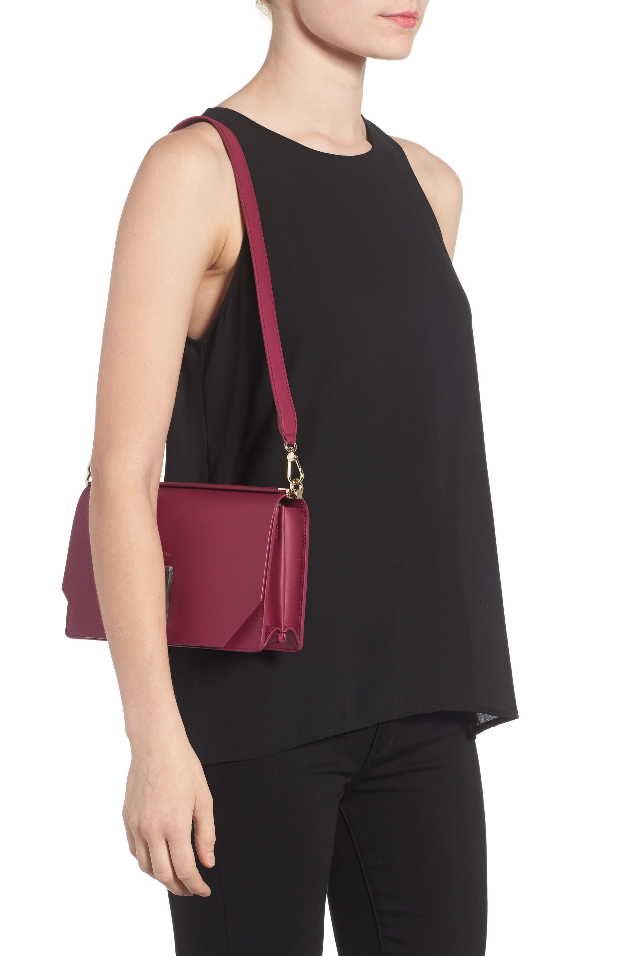 Snap Leather Shoulder Bag,                             Alternate thumbnail 2, color,                             609