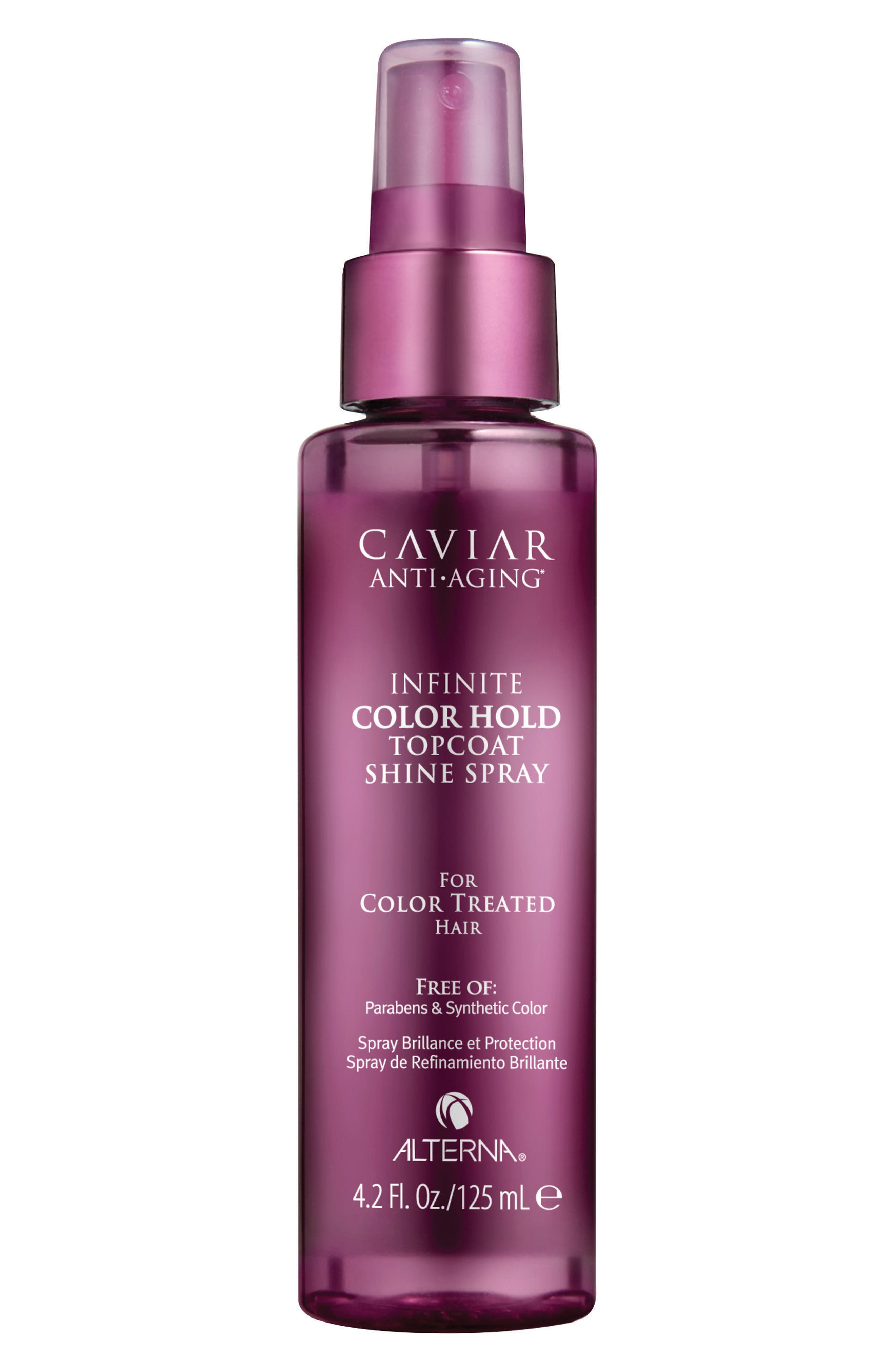 Caviar Infinite Color Hold Topcoat Shine Spray,                             Main thumbnail 1, color,                             000