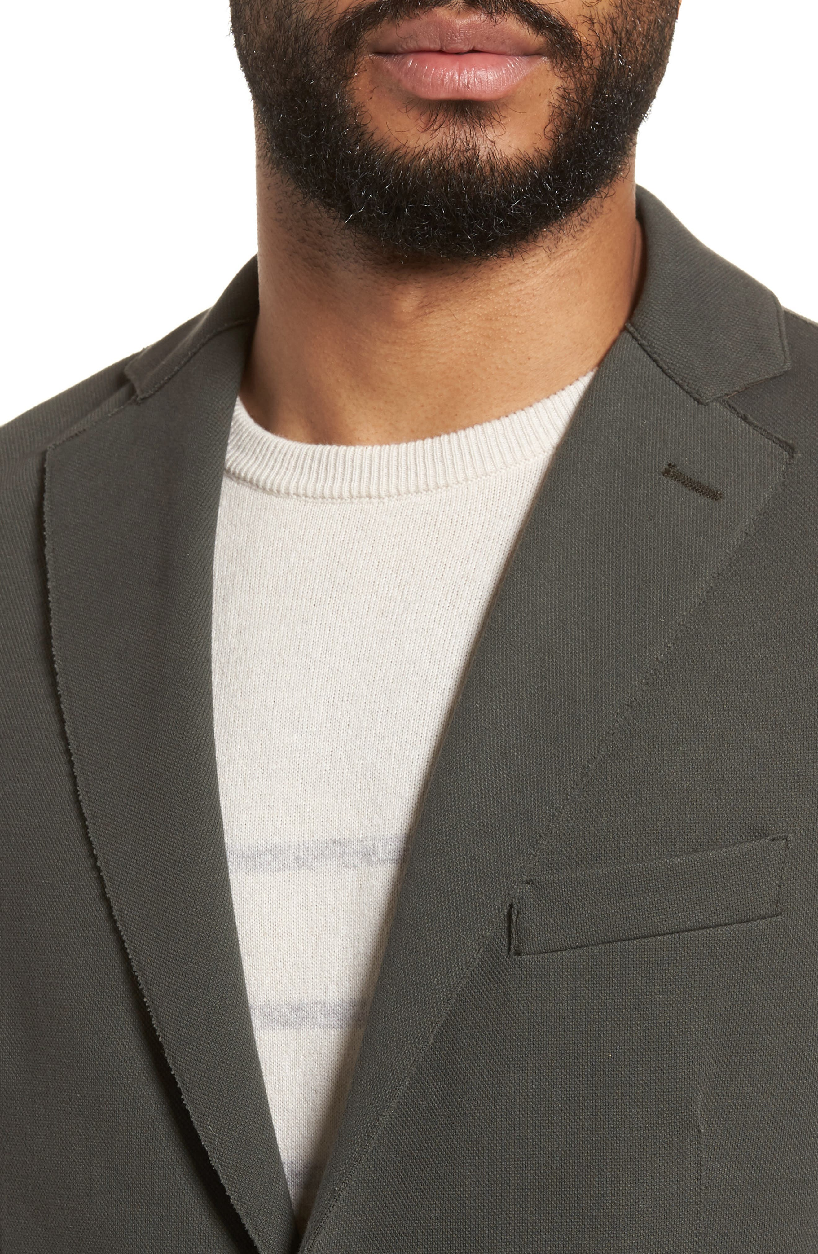 Trim Fit Laser Cut Piqué Jacket,                             Alternate thumbnail 4, color,                             328