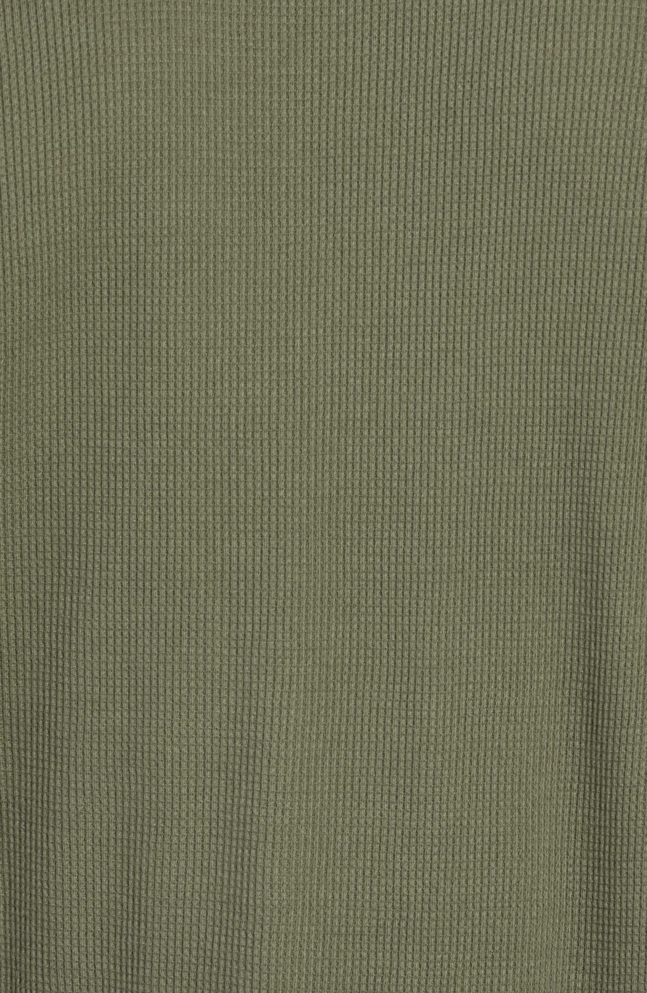 Waffle Knit Pullover,                             Alternate thumbnail 5, color,                             INFANTRY GREEN