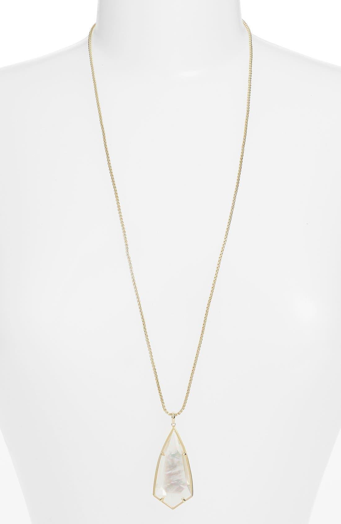 'Carole' Long Semiprecious Stone Pendant Necklace,                             Main thumbnail 11, color,