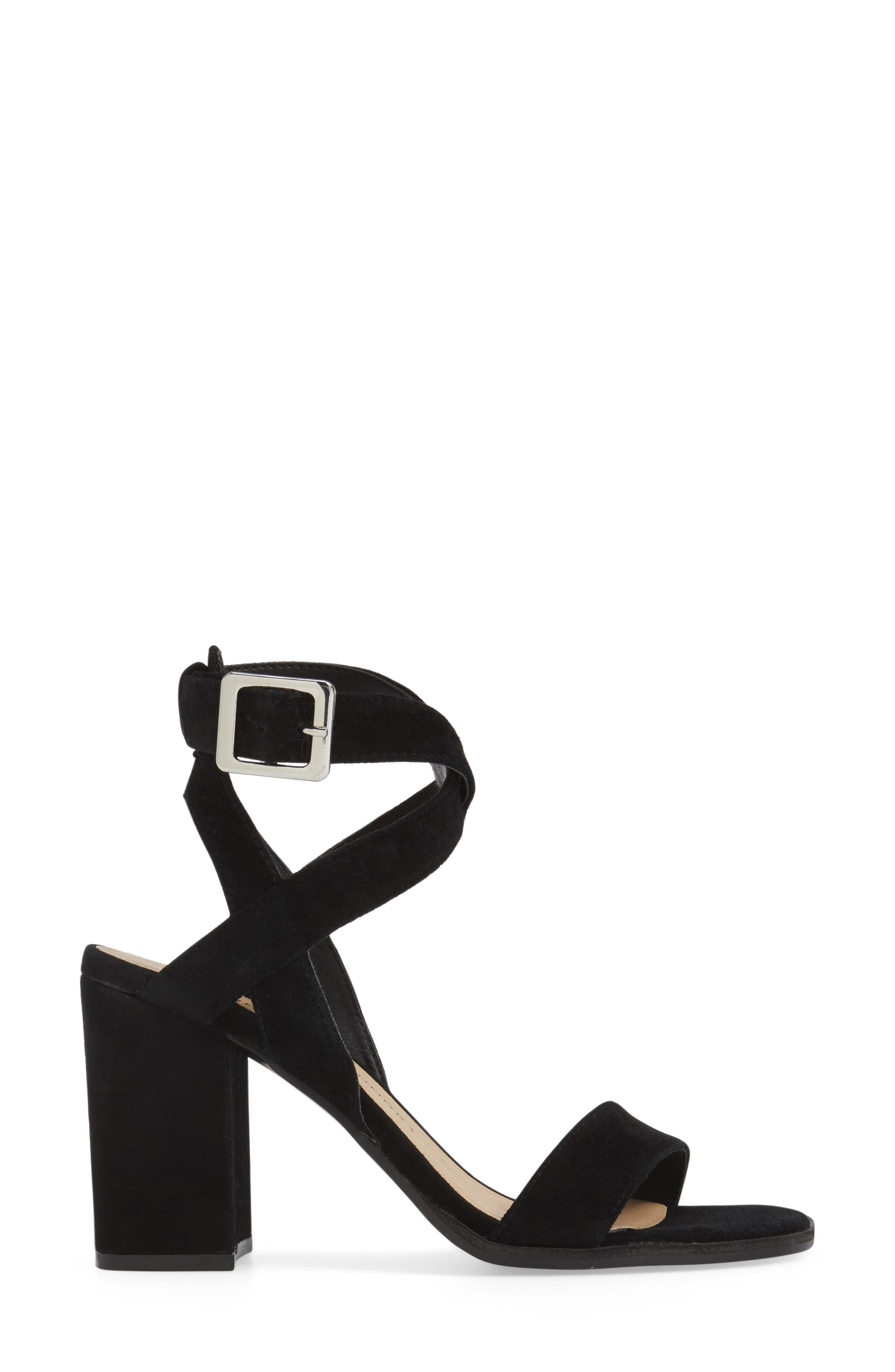 Sitara Ankle Strap Sandal,                             Alternate thumbnail 3, color,                             001