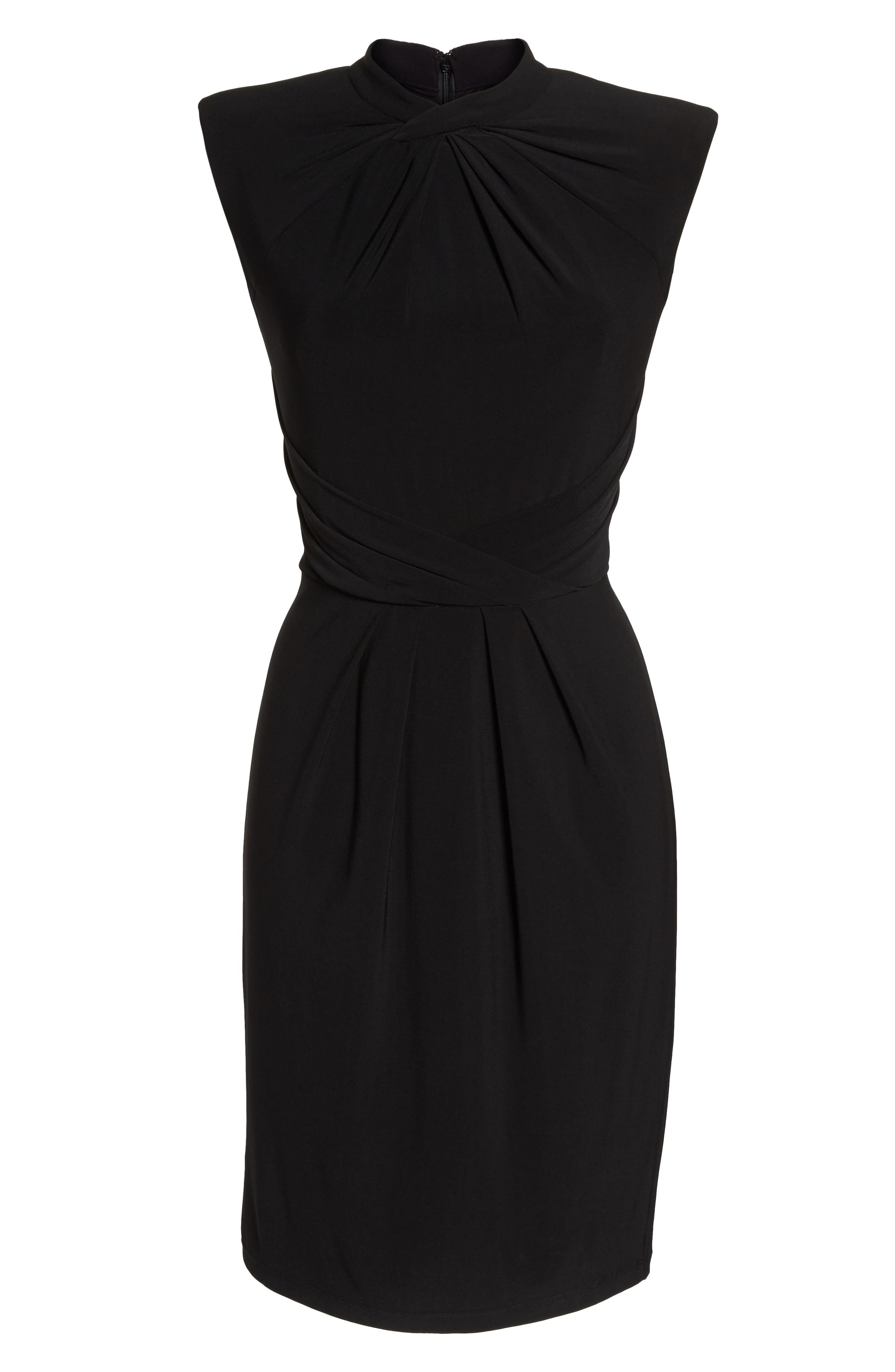 Matte Jersey Sheath Dress,                             Alternate thumbnail 7, color,                             002