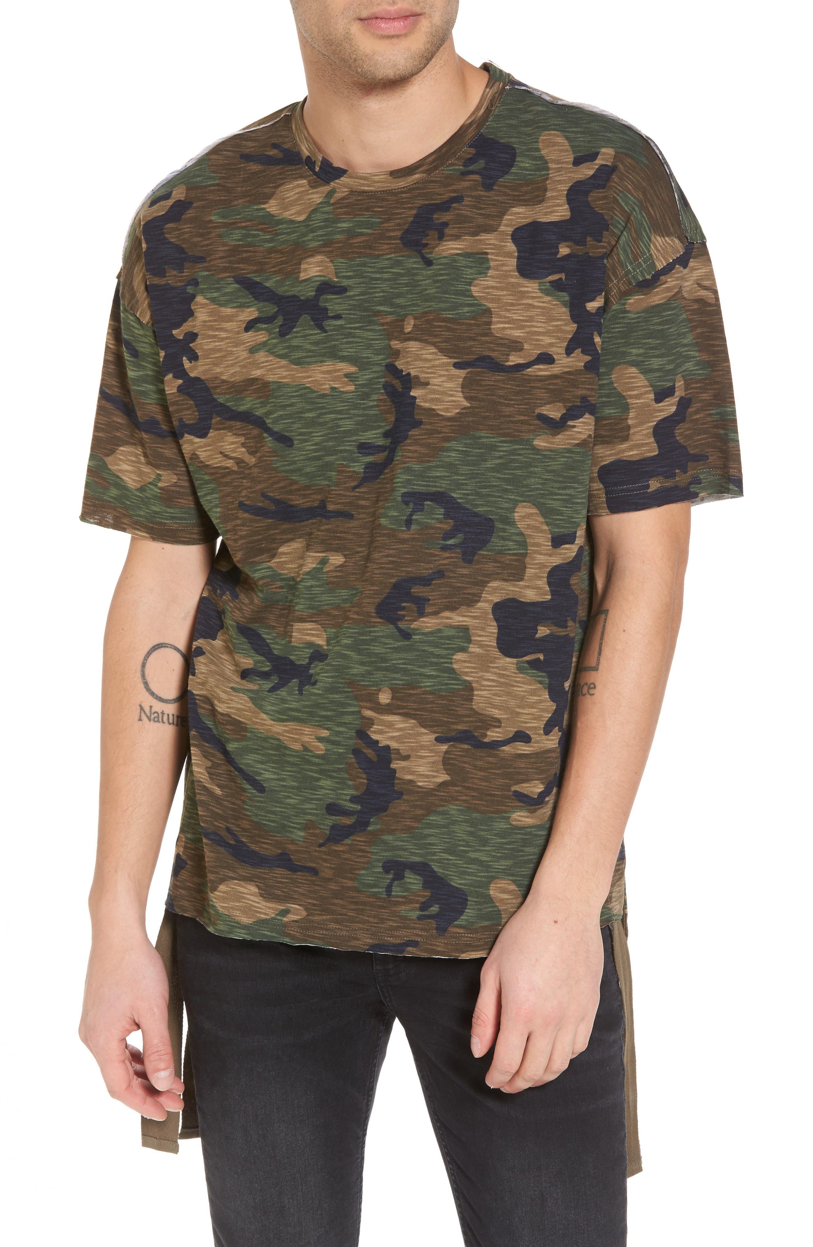 Camo Strapped T-Shirt,                             Main thumbnail 1, color,                             210