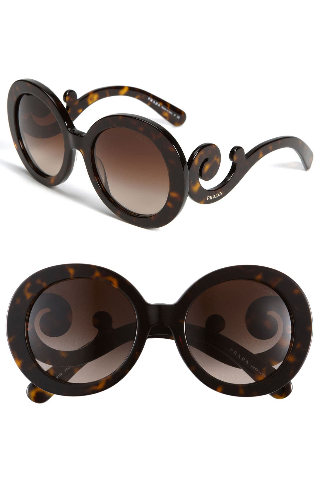 1dfc9f4f0ca ... clearance prada baroque 55mm round sunglasses nordstrom 31726 b63f6